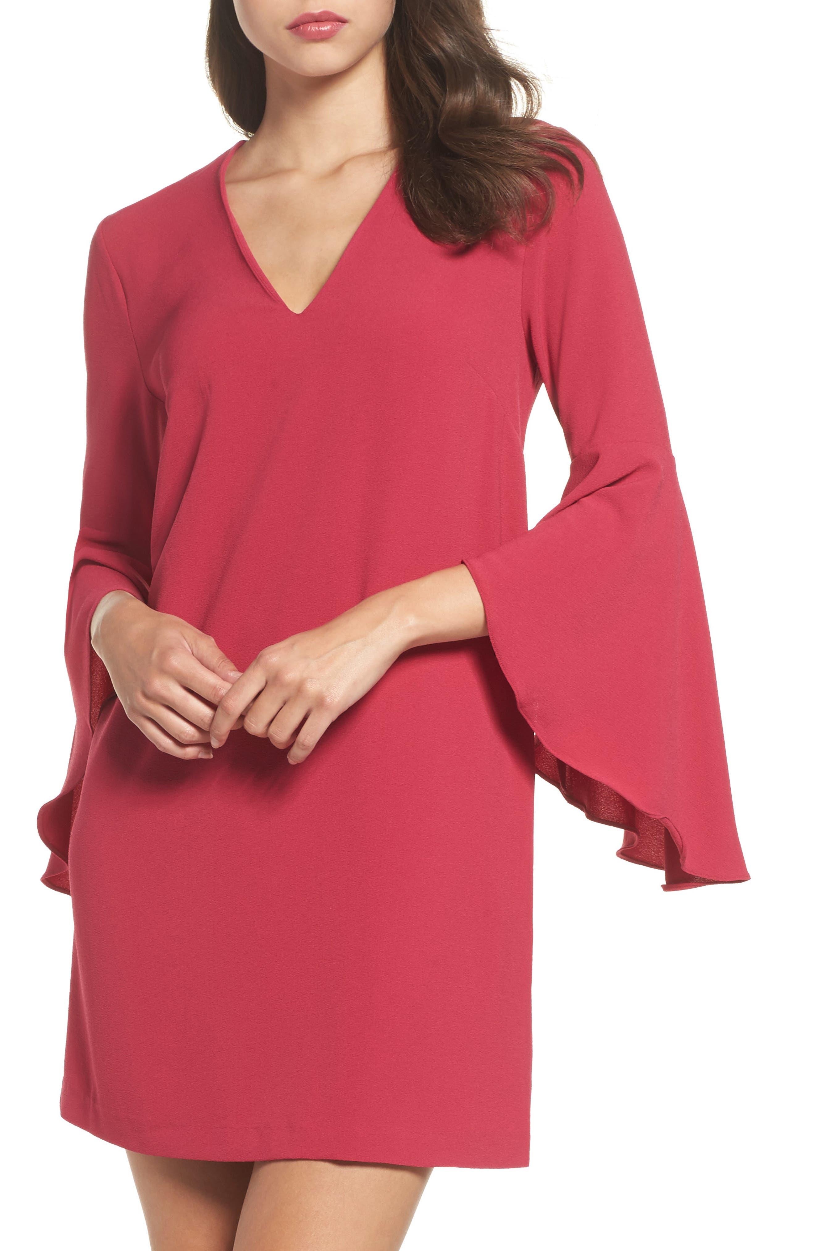 Felicity & Coco Dana Bell Sleeve Shift Dress (Nordstrom Exclusive)
