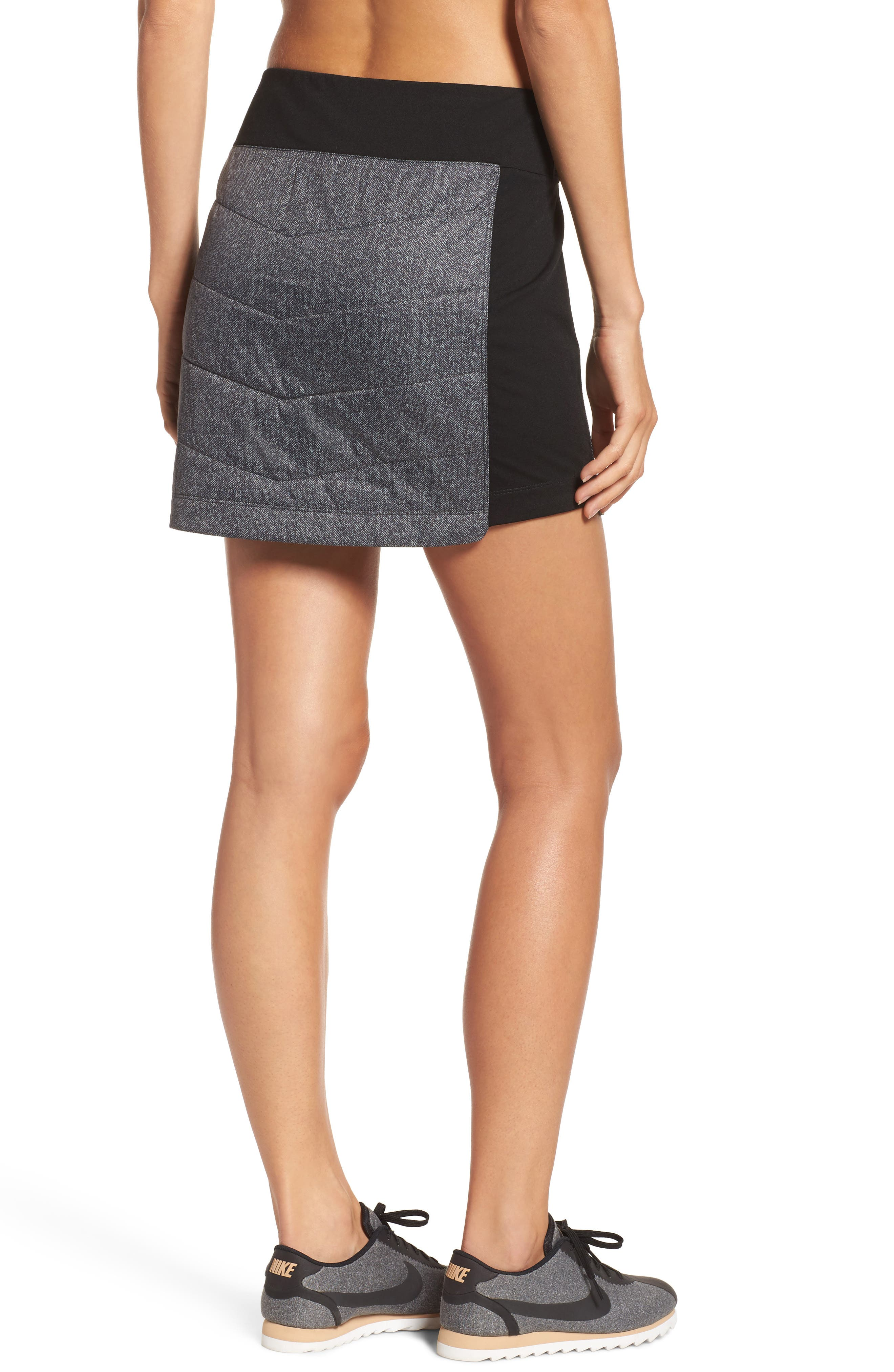 Propulsion 60 Quilted Skirt,                             Alternate thumbnail 2, color,                             Black