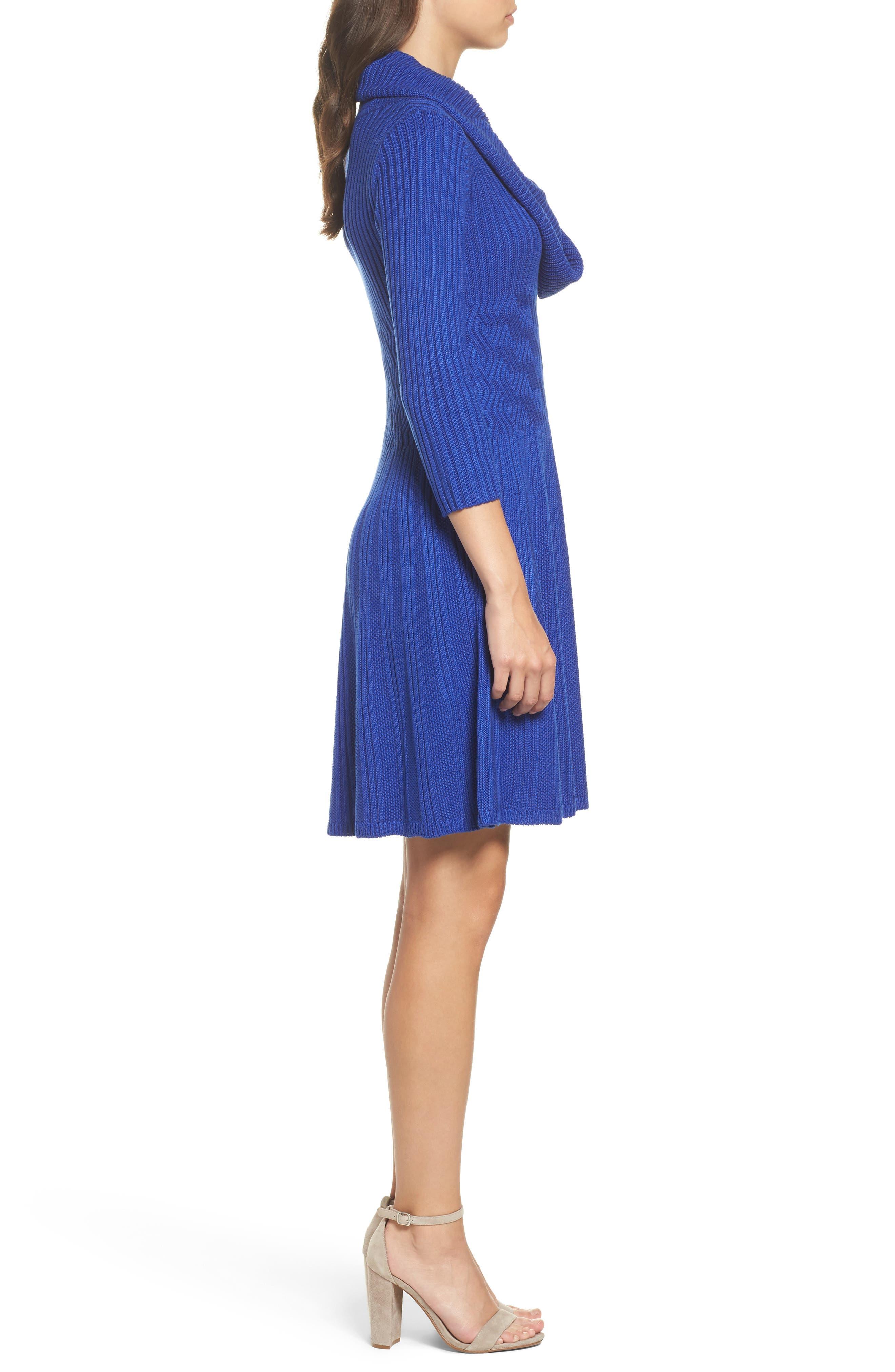 Alternate Image 3  - Eliza J Cowl Neck Sweater Dress