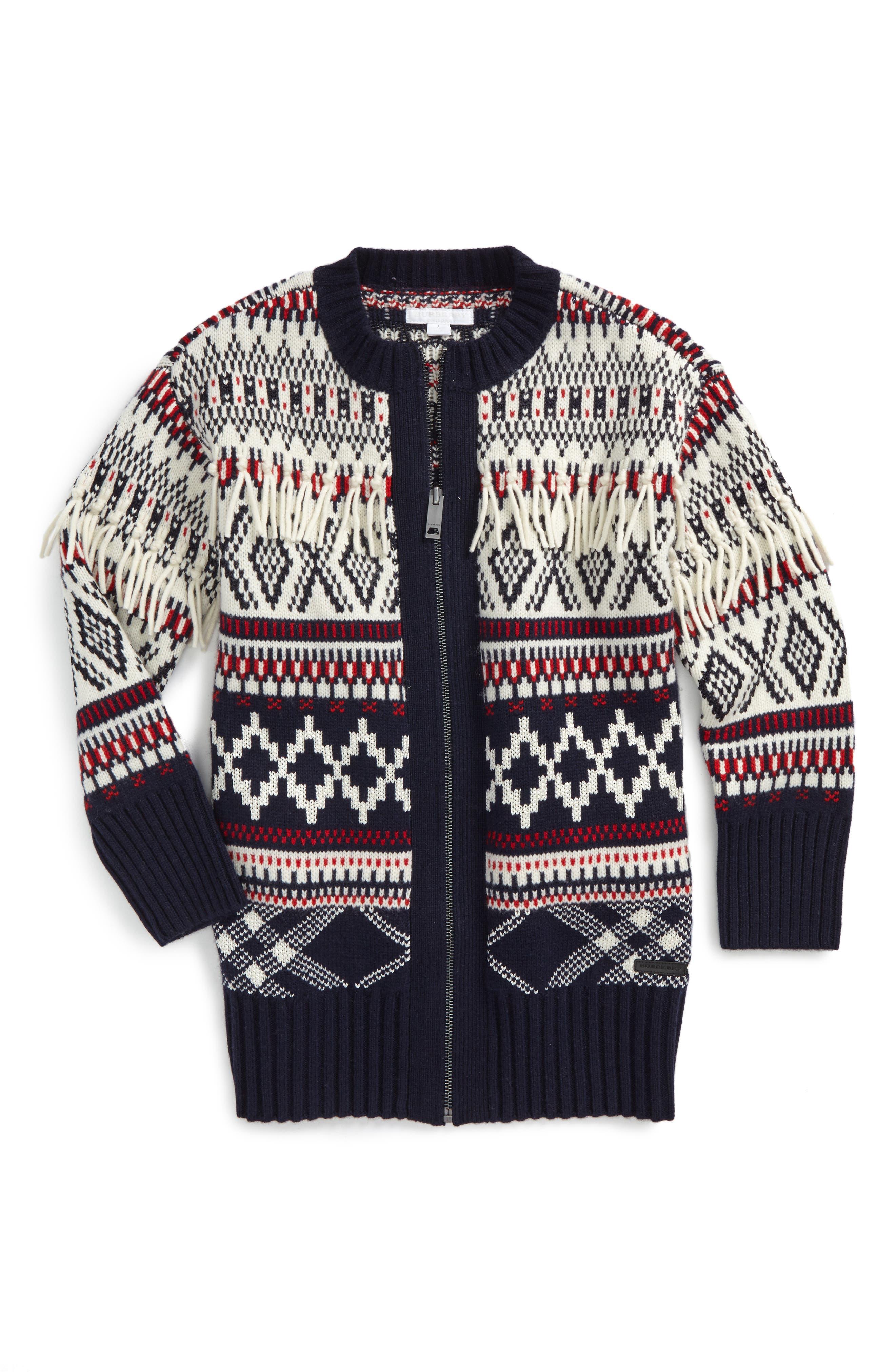 Main Image - Burberry Jaqueline Wool Blend Sweater (Little Girls & Big Girls)