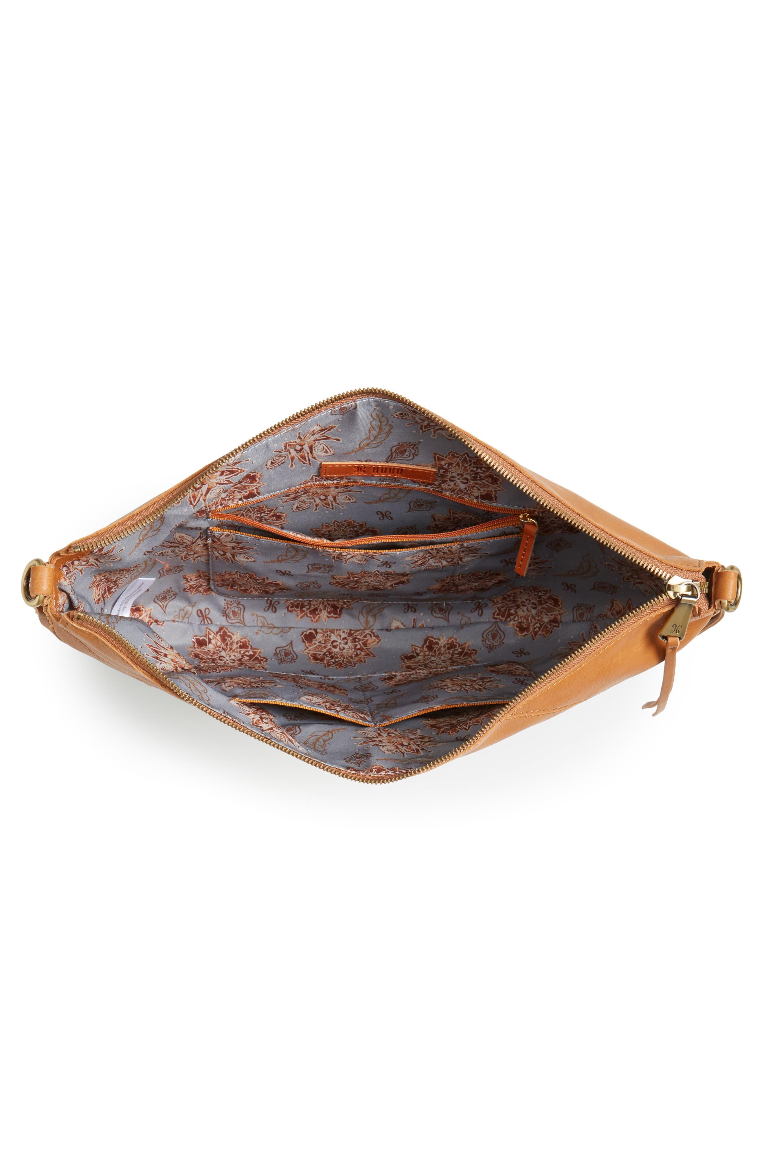 Cisco Calfskin Leather Hobo Bag,                             Alternate thumbnail 3, color,                             Natural
