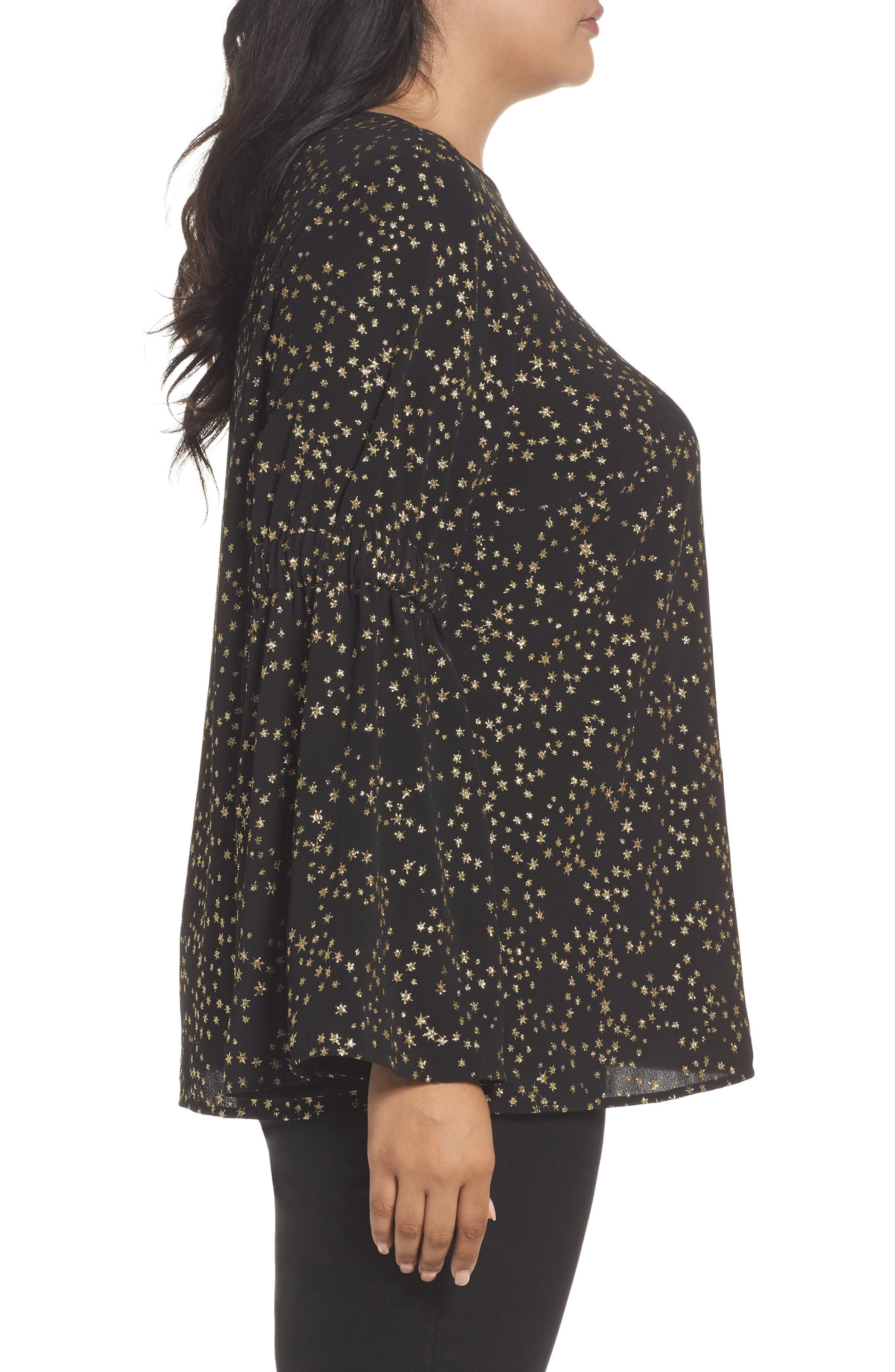 Alternate Image 3  - MICHAEL Michael Kors Shooting Star Bell Sleeve Top (Plus Size)