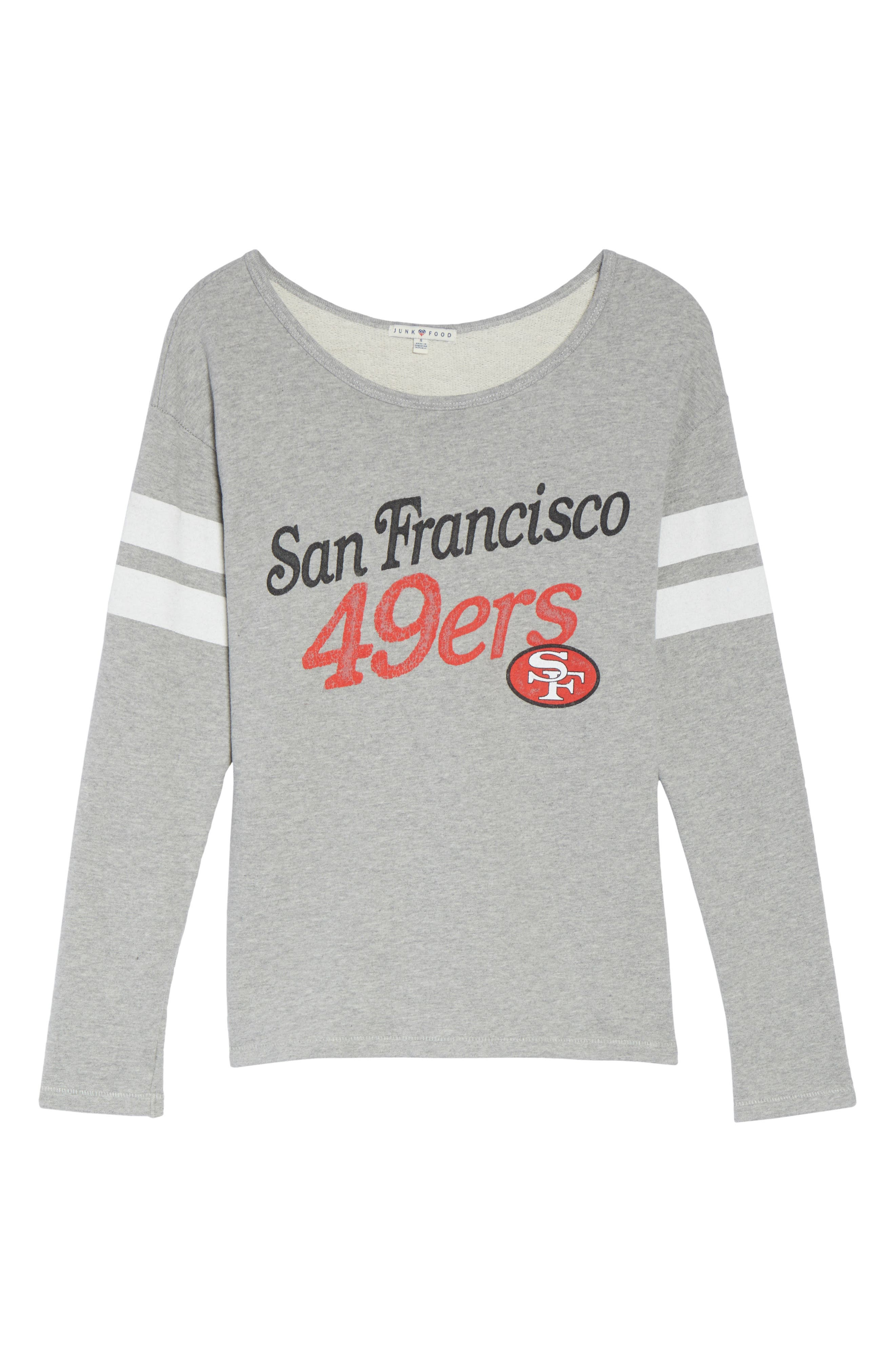 NFL San Francisco 49ers Champion Sweatshirt,                             Alternate thumbnail 4, color,                             Heather Grey
