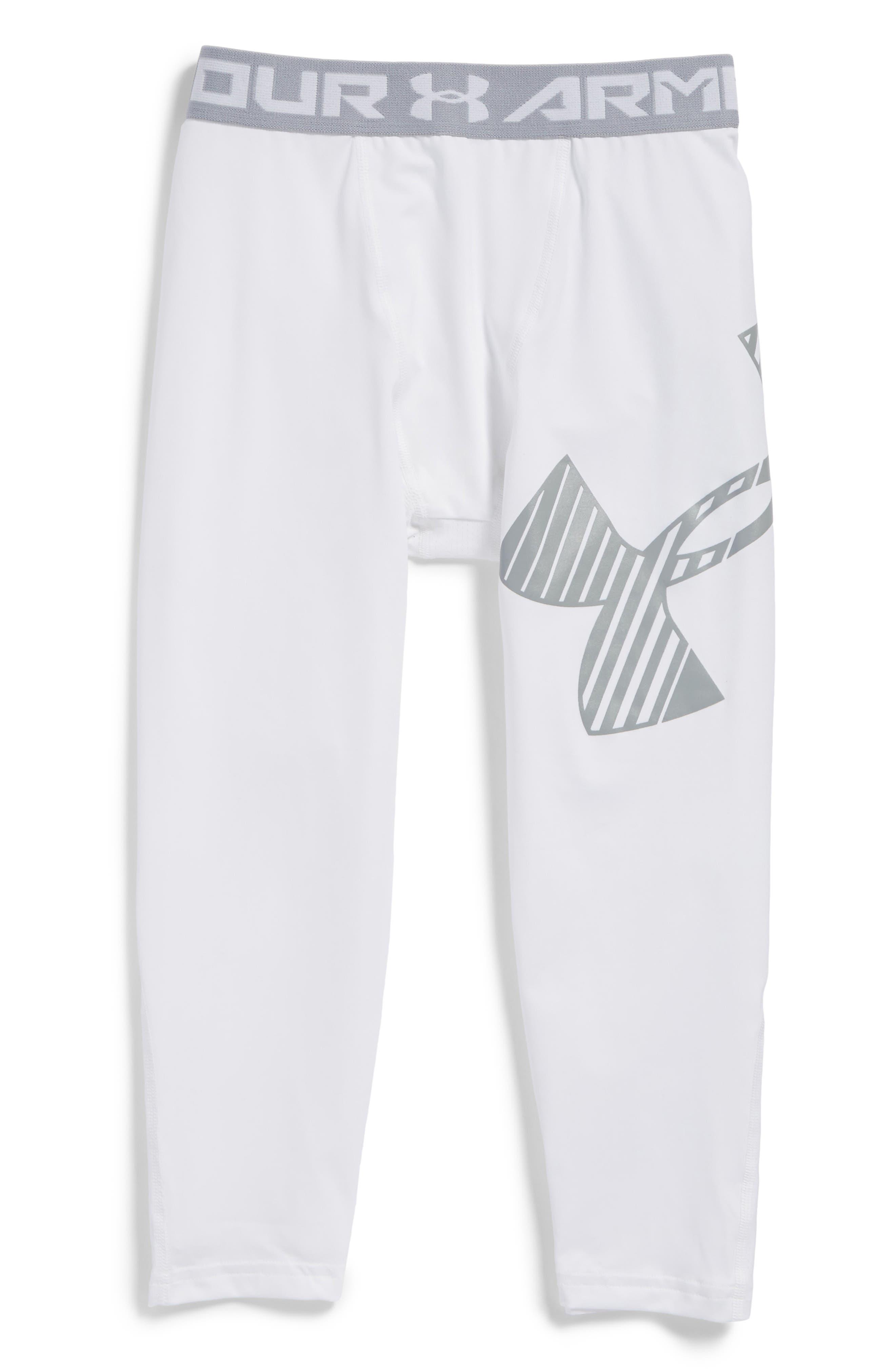 Under Armour Logo HeatGear® 3/4 Leggings (Little Boys & Big Boys)