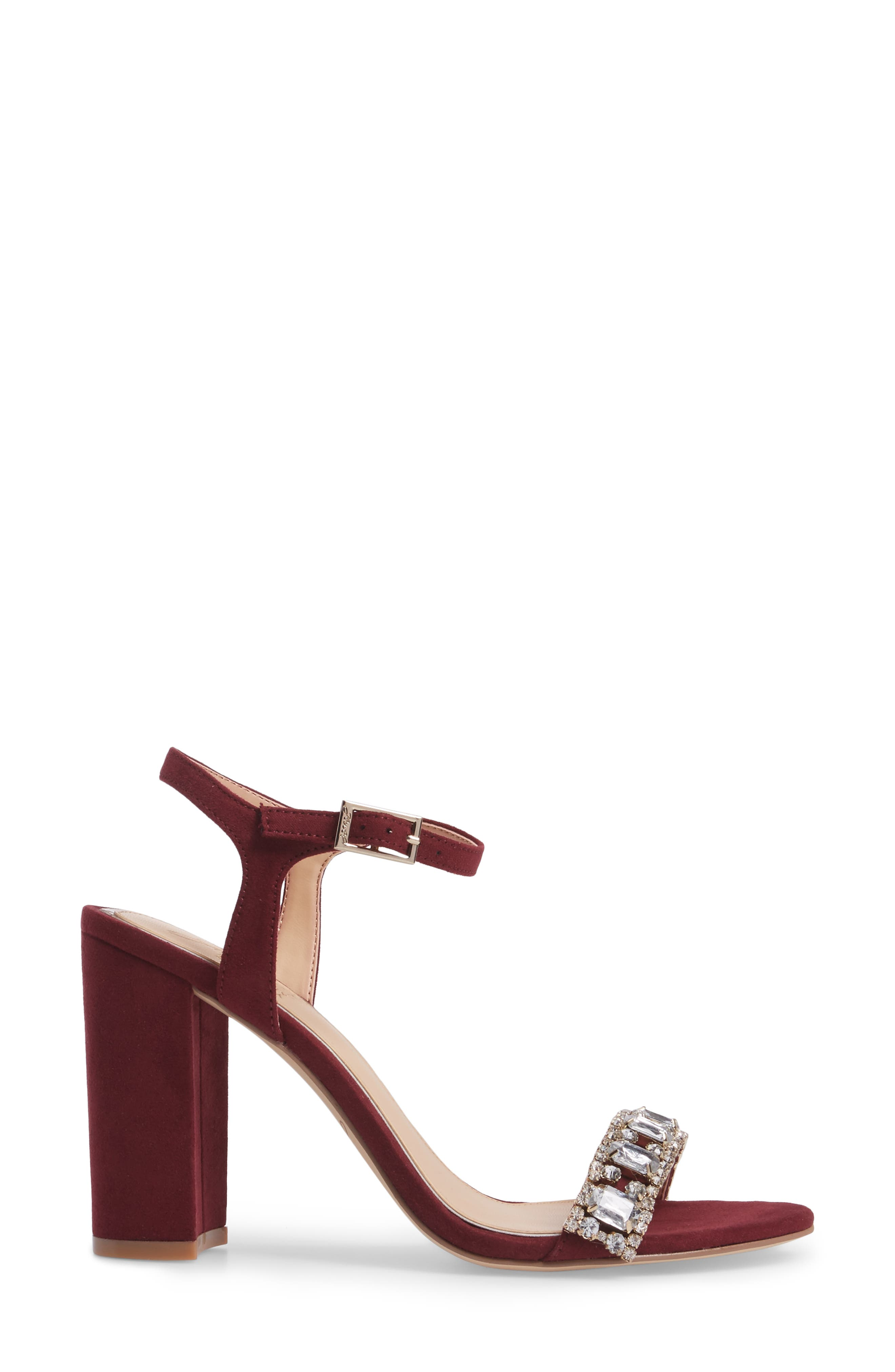 Alternate Image 3  - Jewel Badgley Mischka Hendricks Embellished Block Heel Sandal (Women)