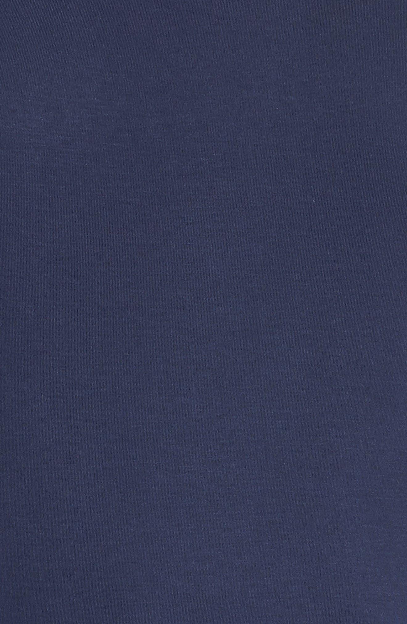 Pleat Ruffle Sleeve Top,                             Alternate thumbnail 5, color,                             Navy