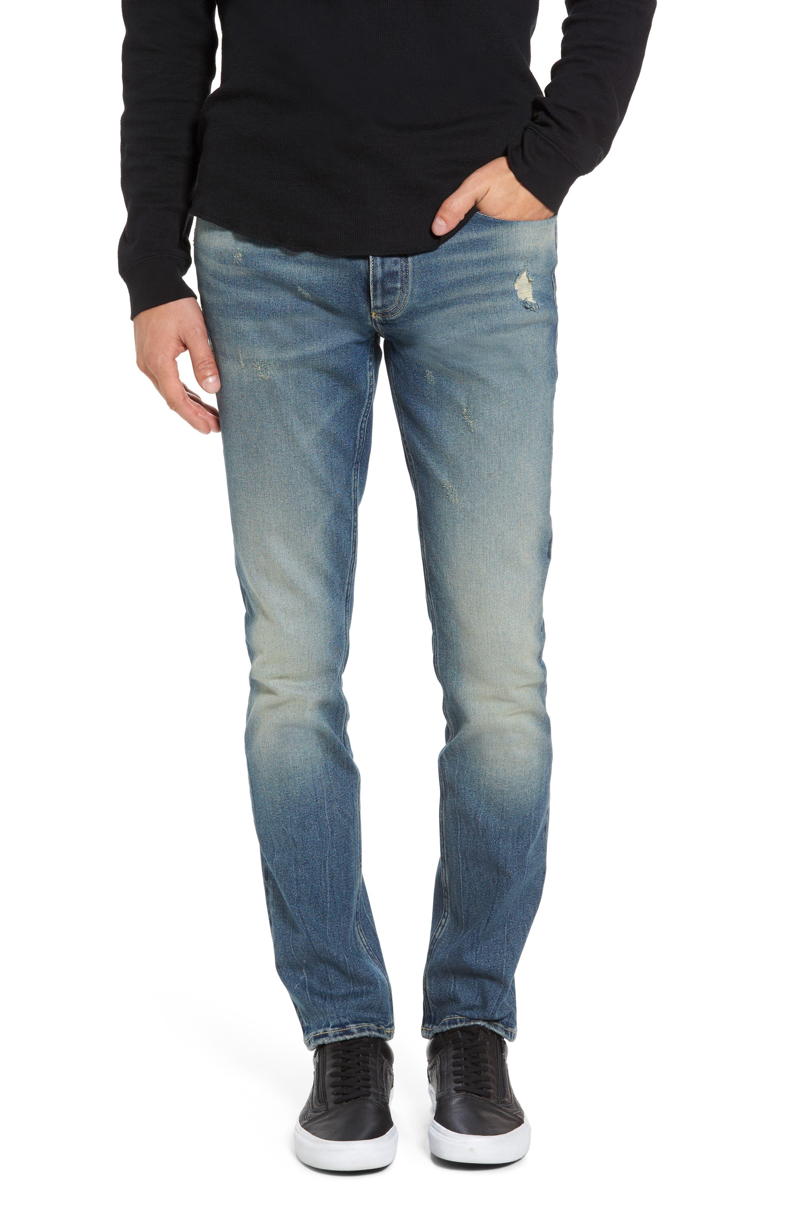 Main Image - Calvin Klein Jeans Skinny Jeans (Tron Blue)