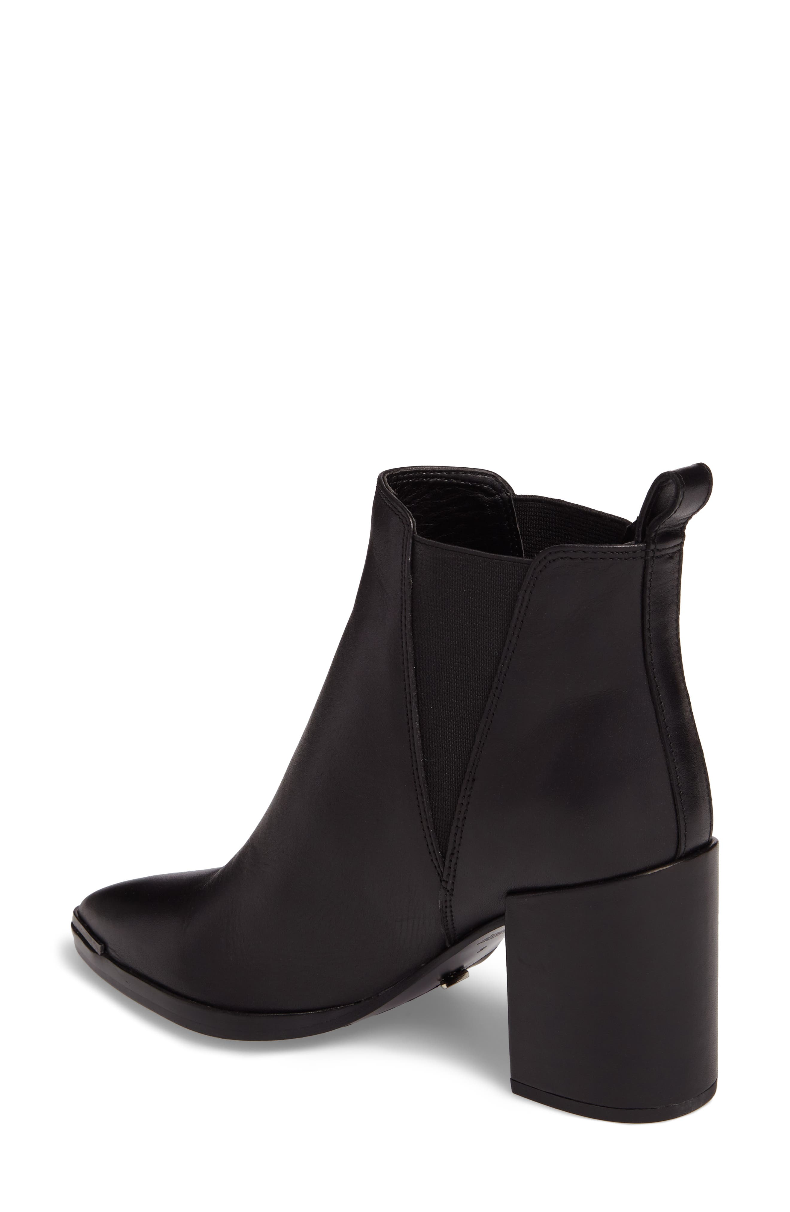 Bello Pointy Toe Bootie,                             Alternate thumbnail 2, color,                             Black Jetta Leather