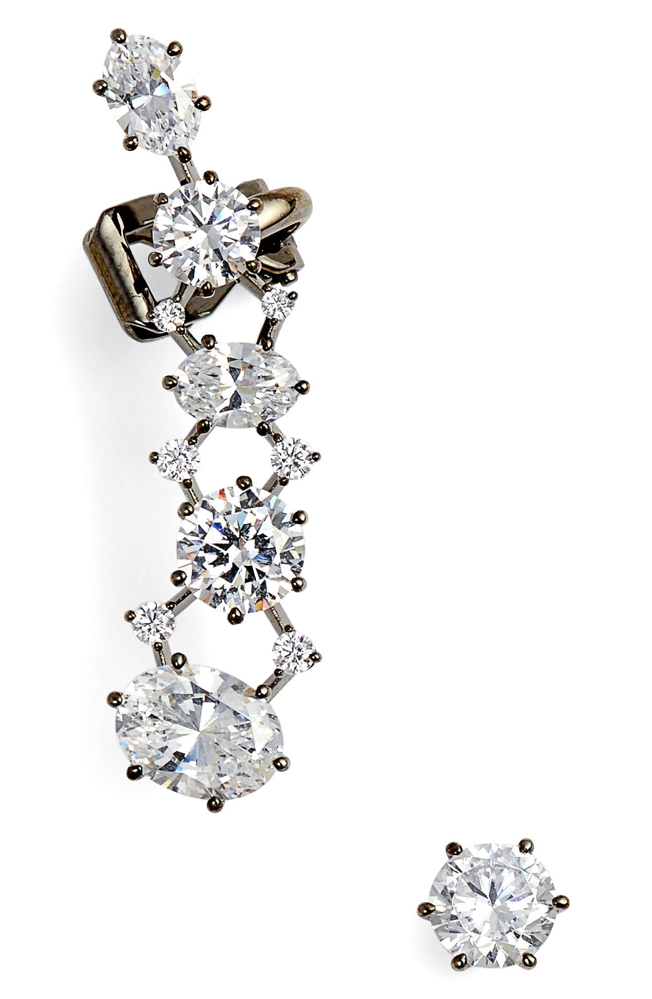 Alternate Image 1 Selected - Nadri Cubic Zirconia Royale Ear Crawler & Stud