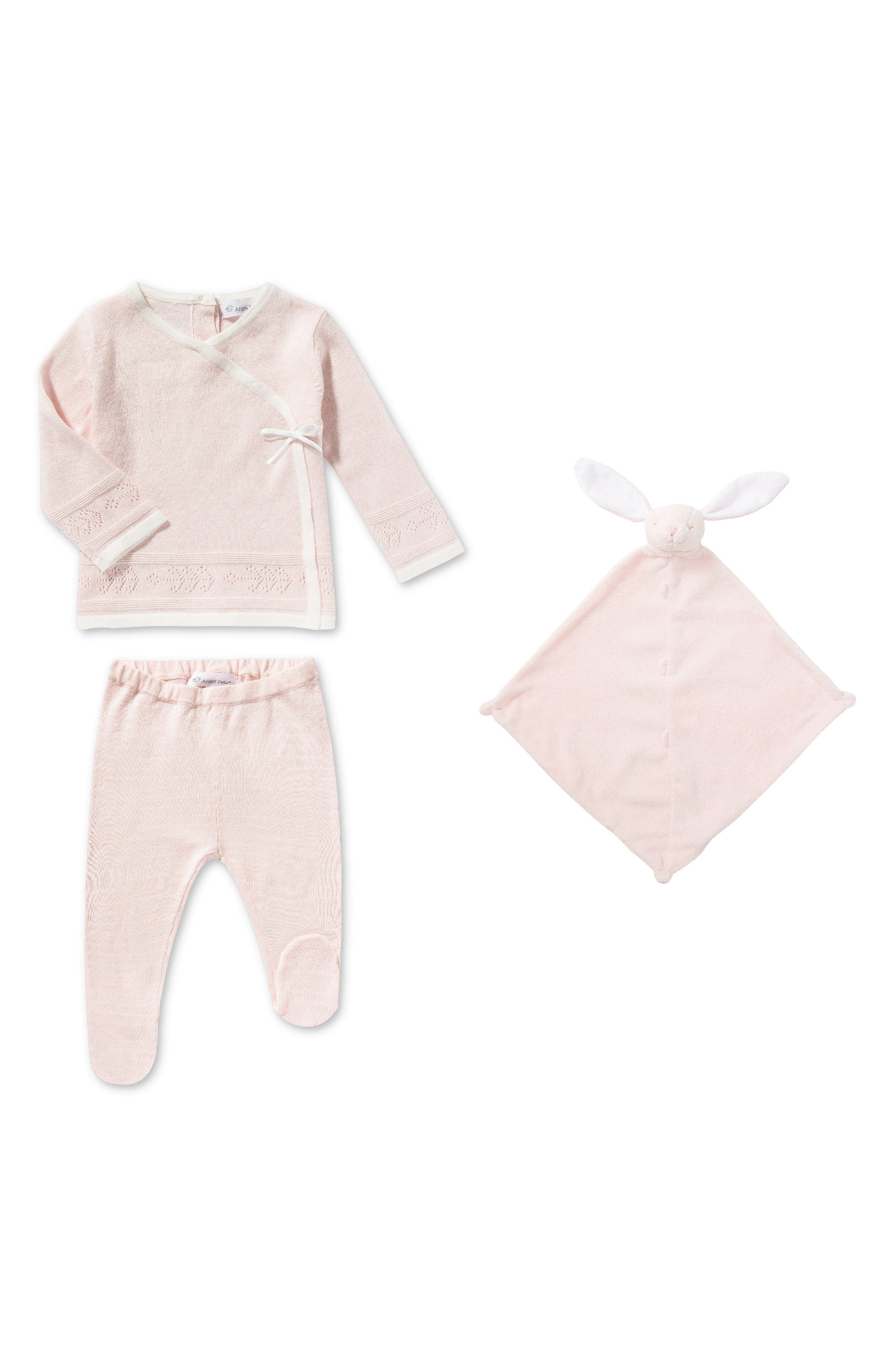 Main Image - Angel Dear Sweater, Pants & Blanket Set (Baby Girls)