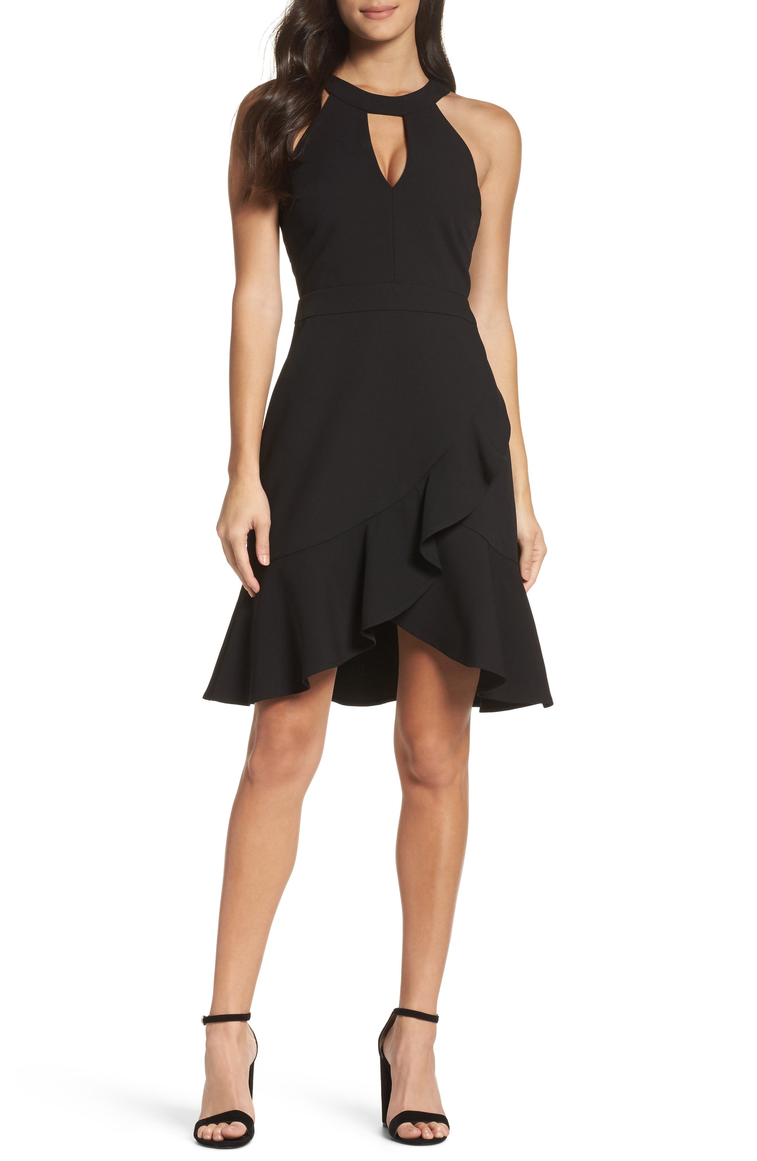 Adelyn Rae Kasi Ruffle Fit & Flare Dress