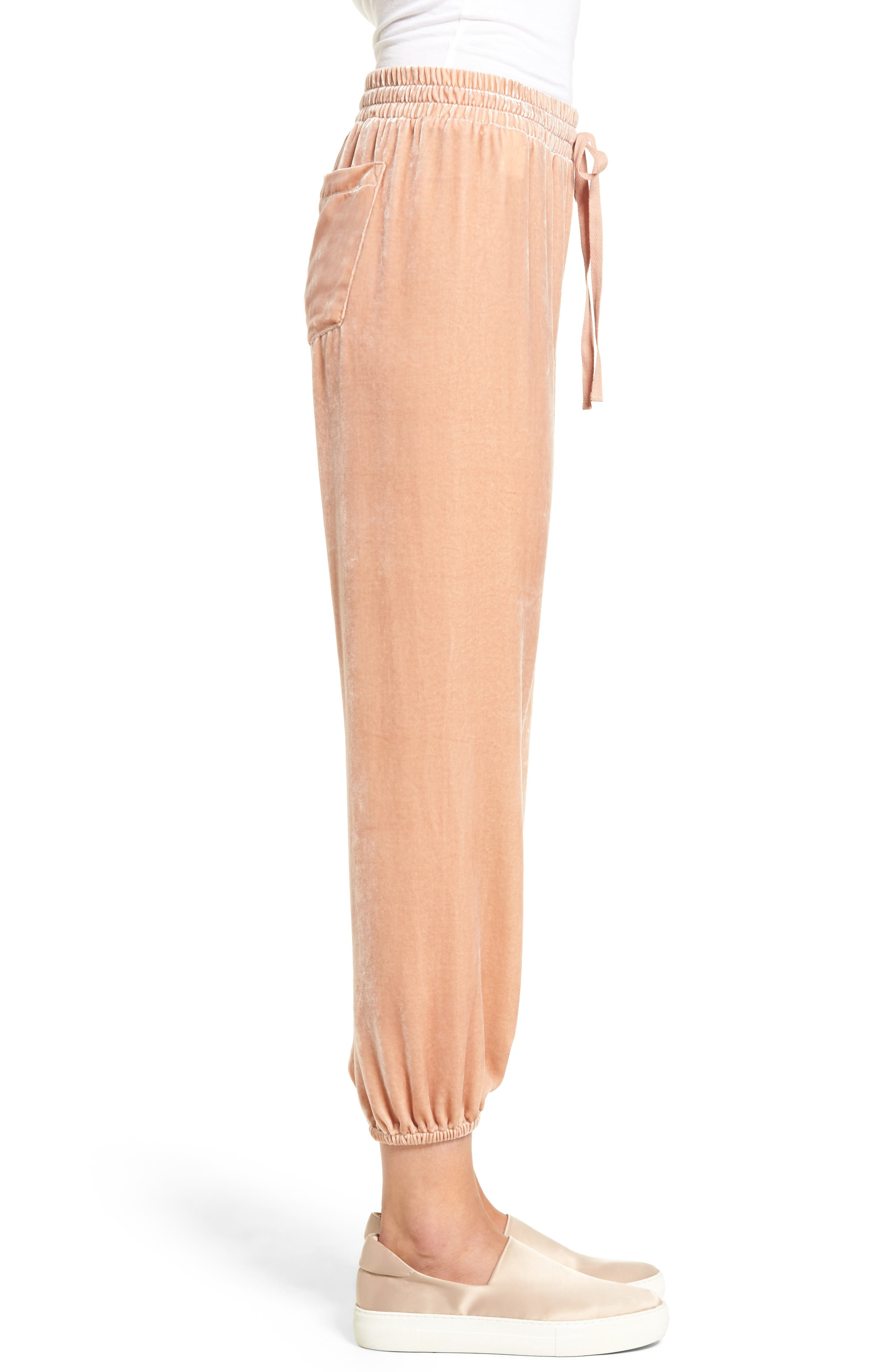 The Eden Jogger Pants,                             Alternate thumbnail 3, color,                             Muted Misty Rose