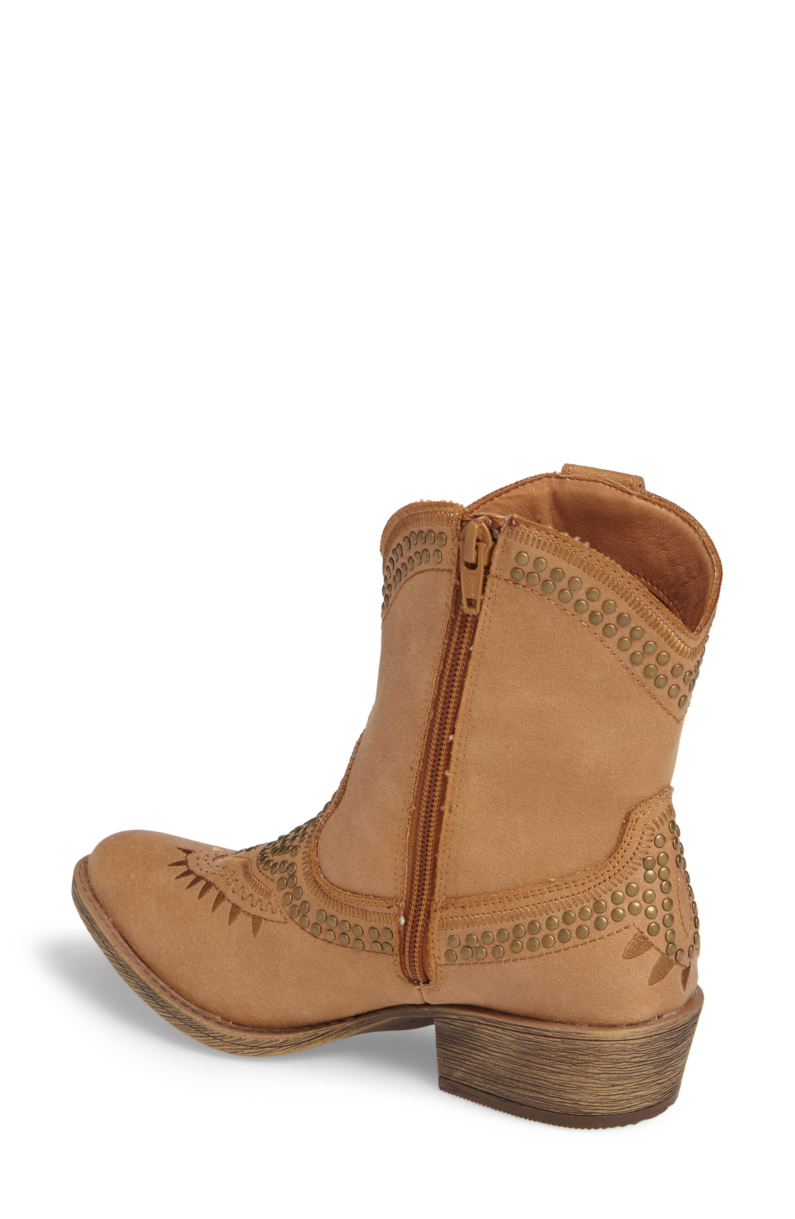 Amour Embellished Western Bootie,                             Alternate thumbnail 2, color,                             Natural