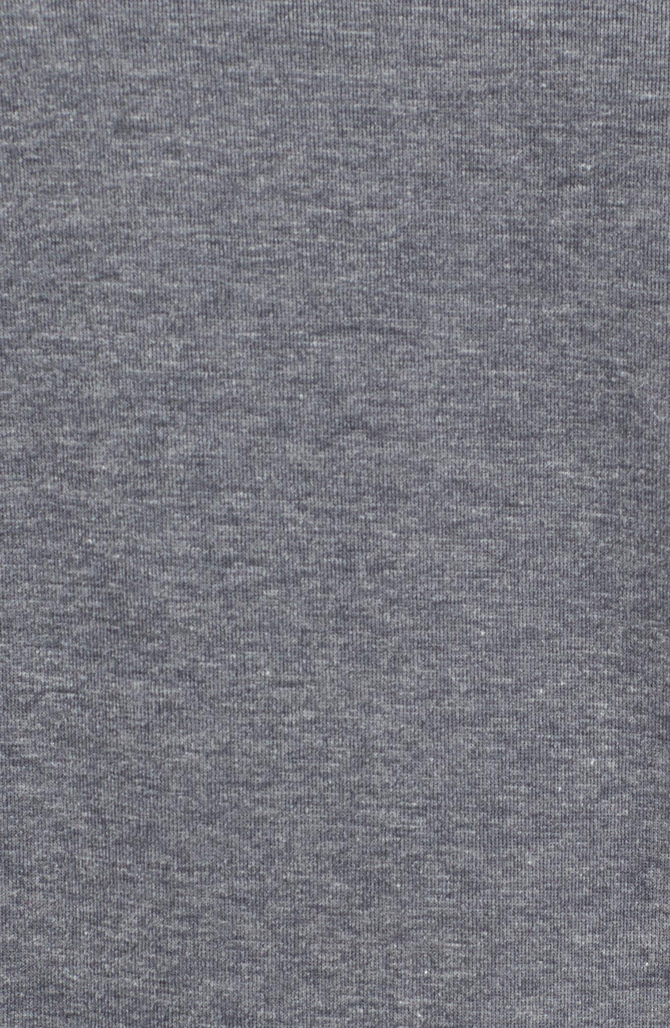 Oversize Sweatshirt,                             Alternate thumbnail 6, color,                             Dark Grey Heather