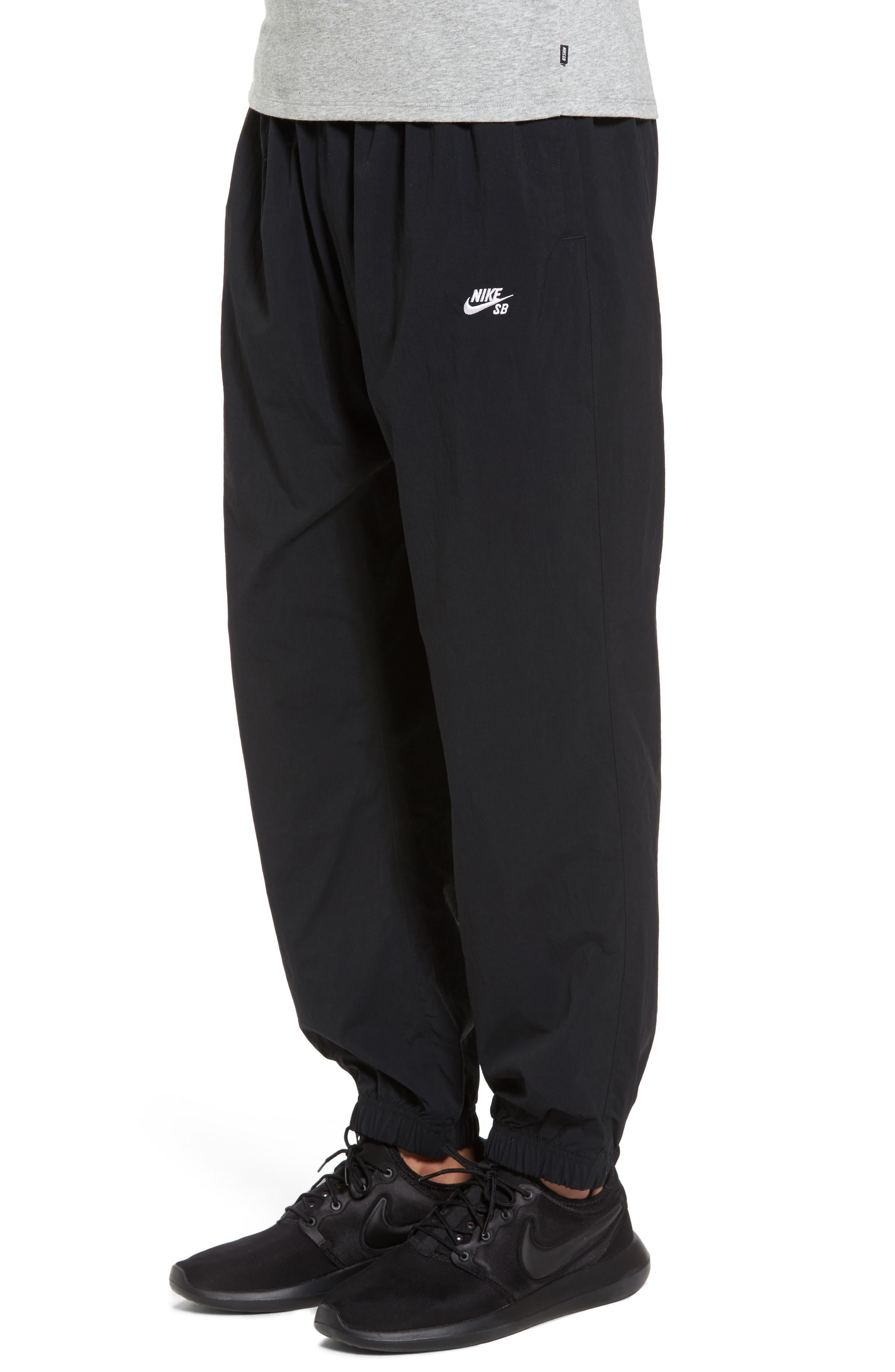 Flex Woven Pants,                             Alternate thumbnail 3, color,                             Black/ White