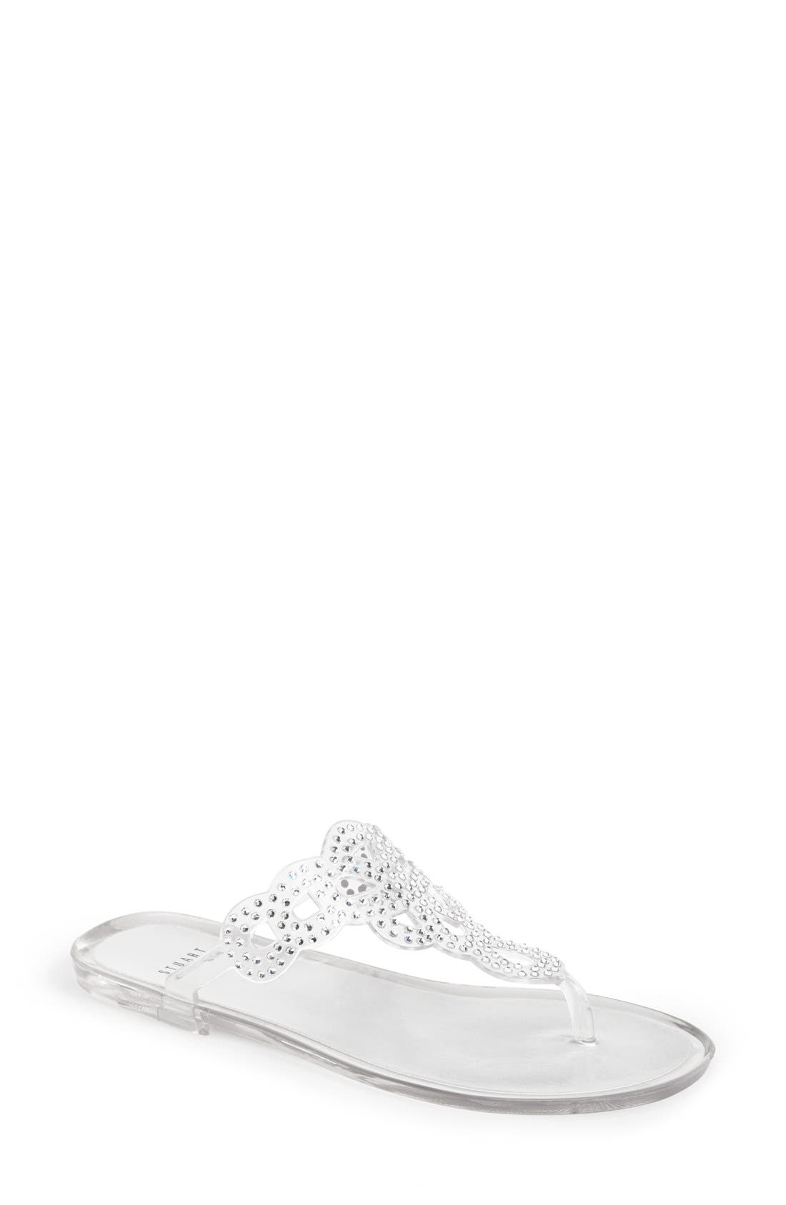 Main Image - Stuart Weitzman 'Mermaid' Crystal Embellished Jelly Sandal (Women)