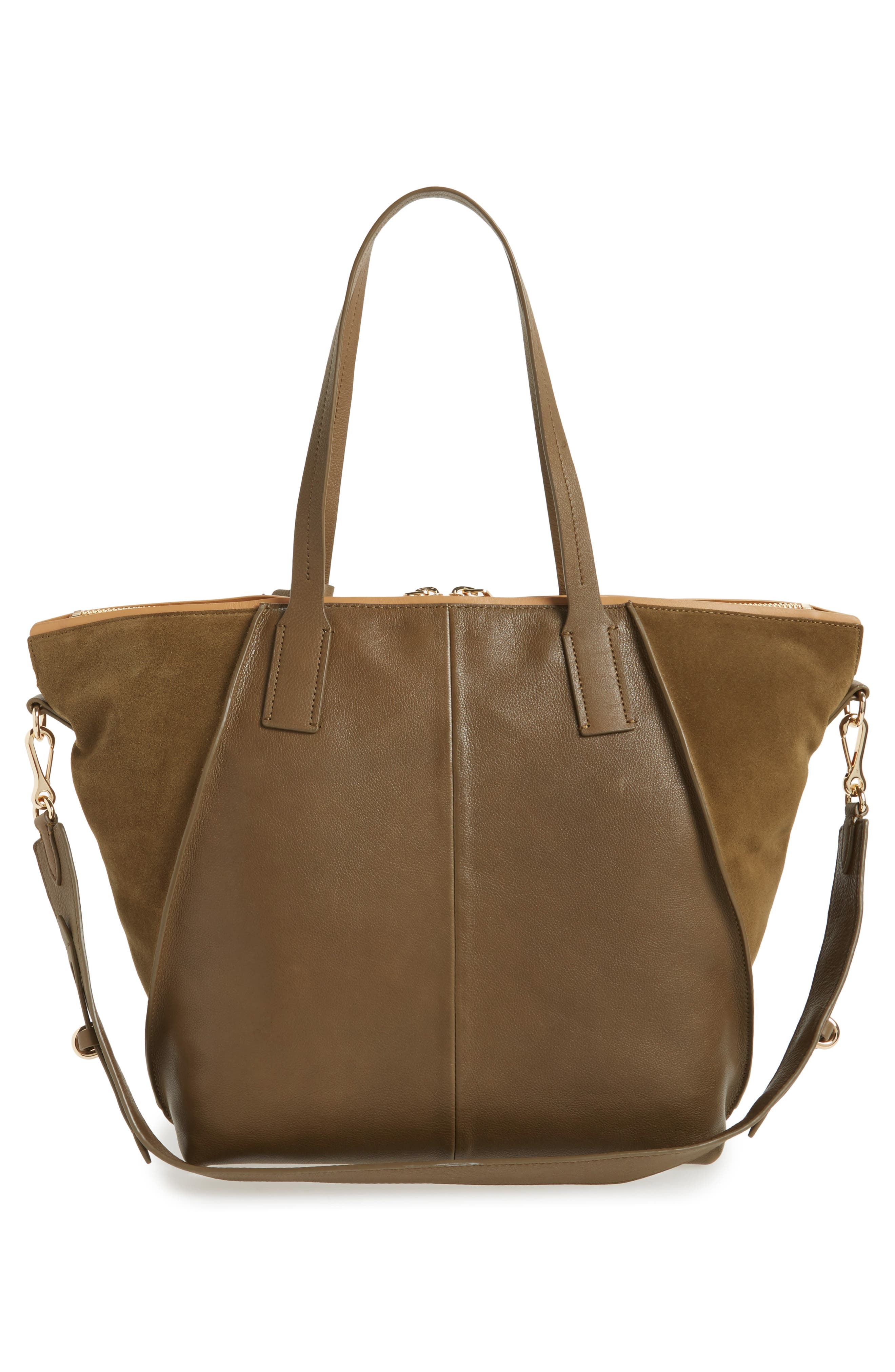 Alternate Image 2  - Vince Camuto Alicia Suede & Leather Tote