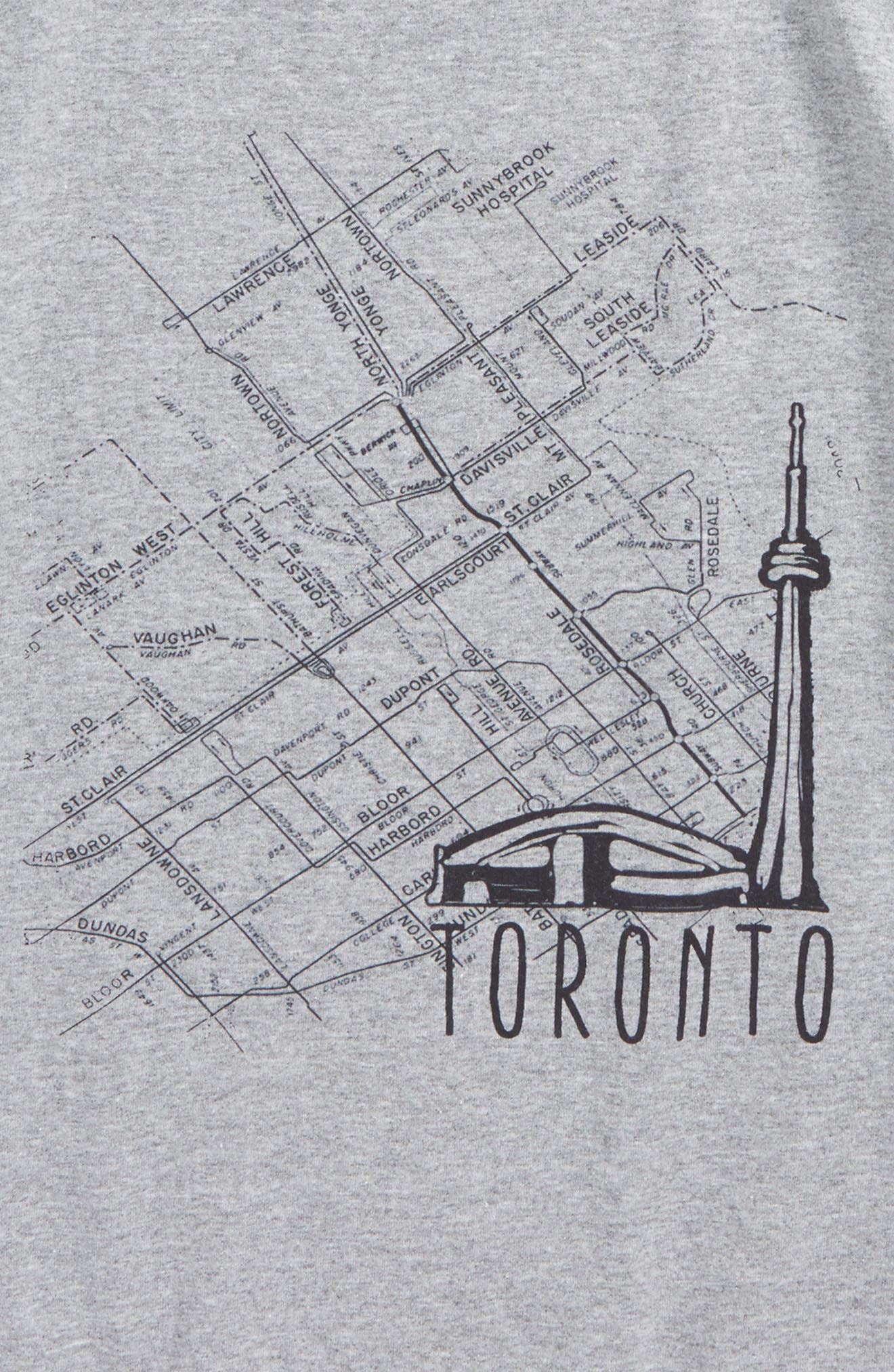 Alternate Image 2  - Kid Dangerous Toronto Map Graphic T-Shirt (Big Boys)