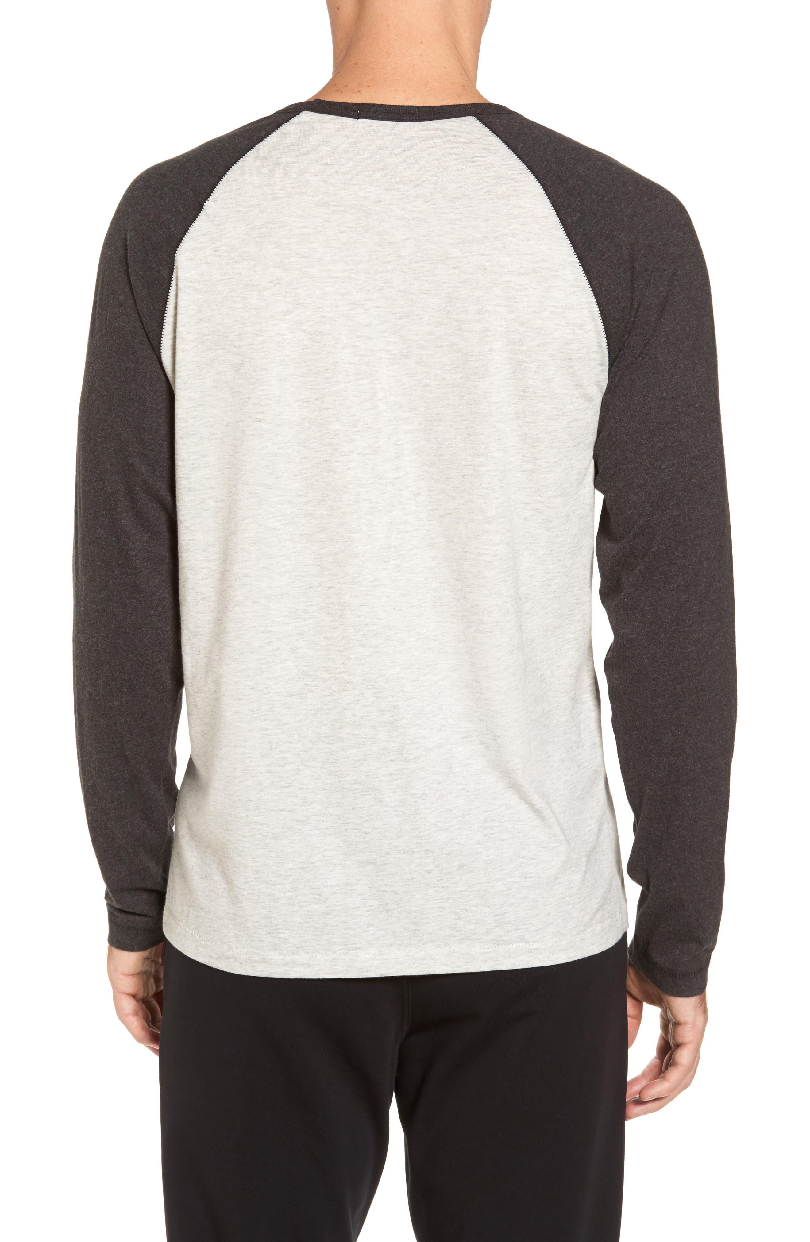 Stefan Raglan T-Shirt,                             Alternate thumbnail 3, color,                             Seal Heather/ Black Bear