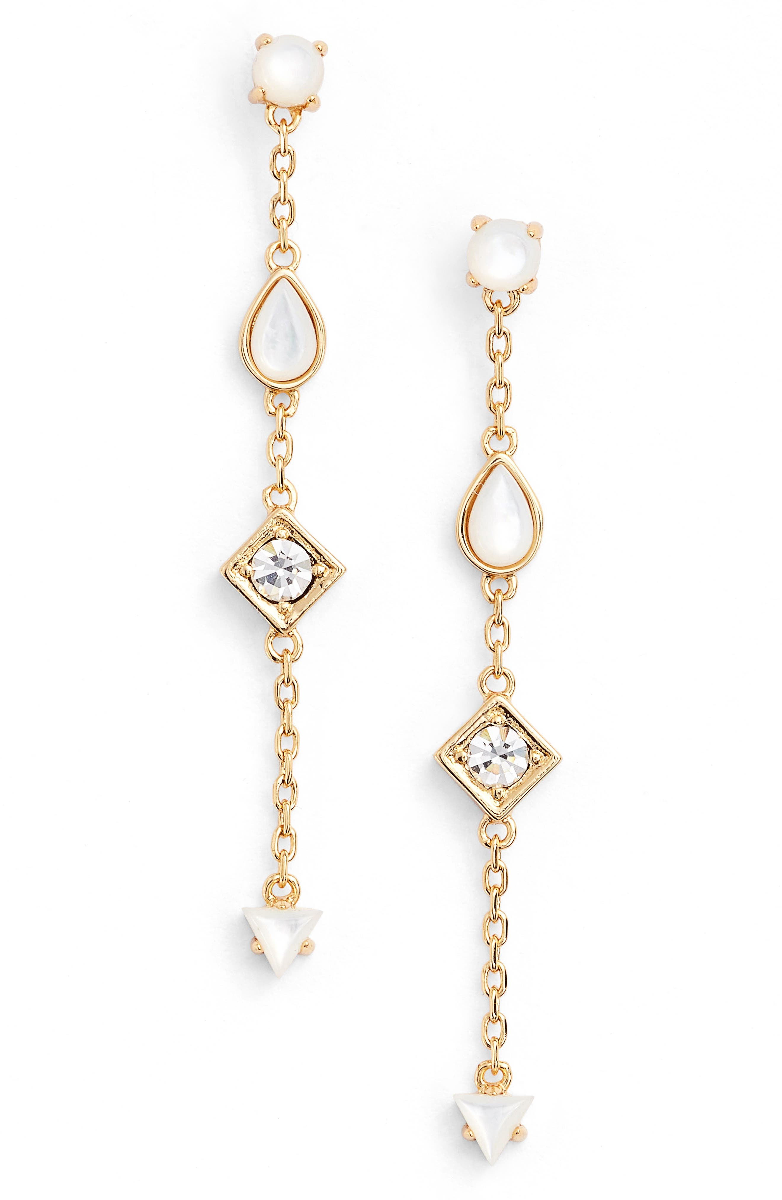 Willow Drop Earrings,                         Main,                         color, Gold/ Pearl