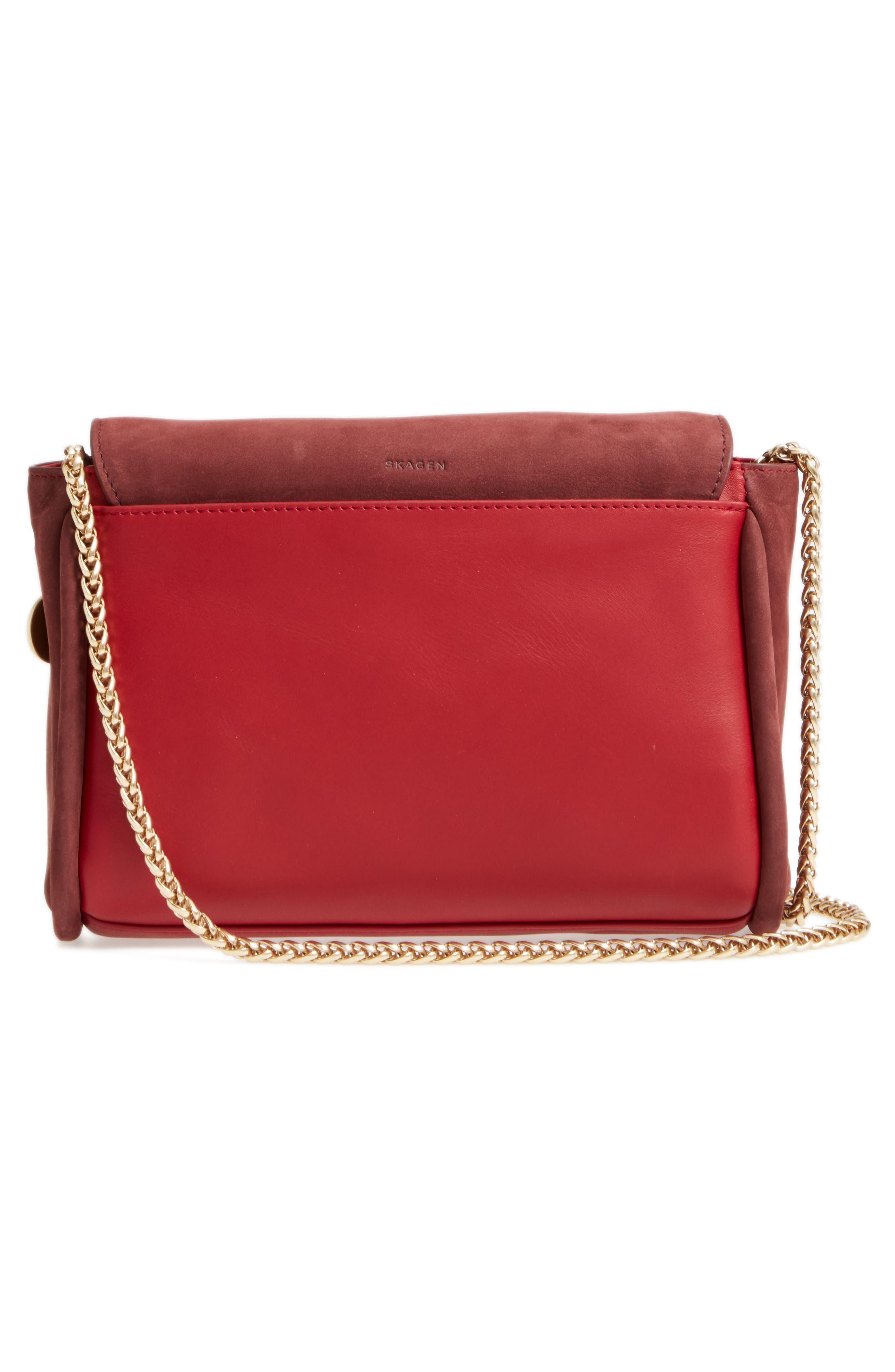 Alternate Image 2  - Skagen Sylvi Leather Crossbody Bag