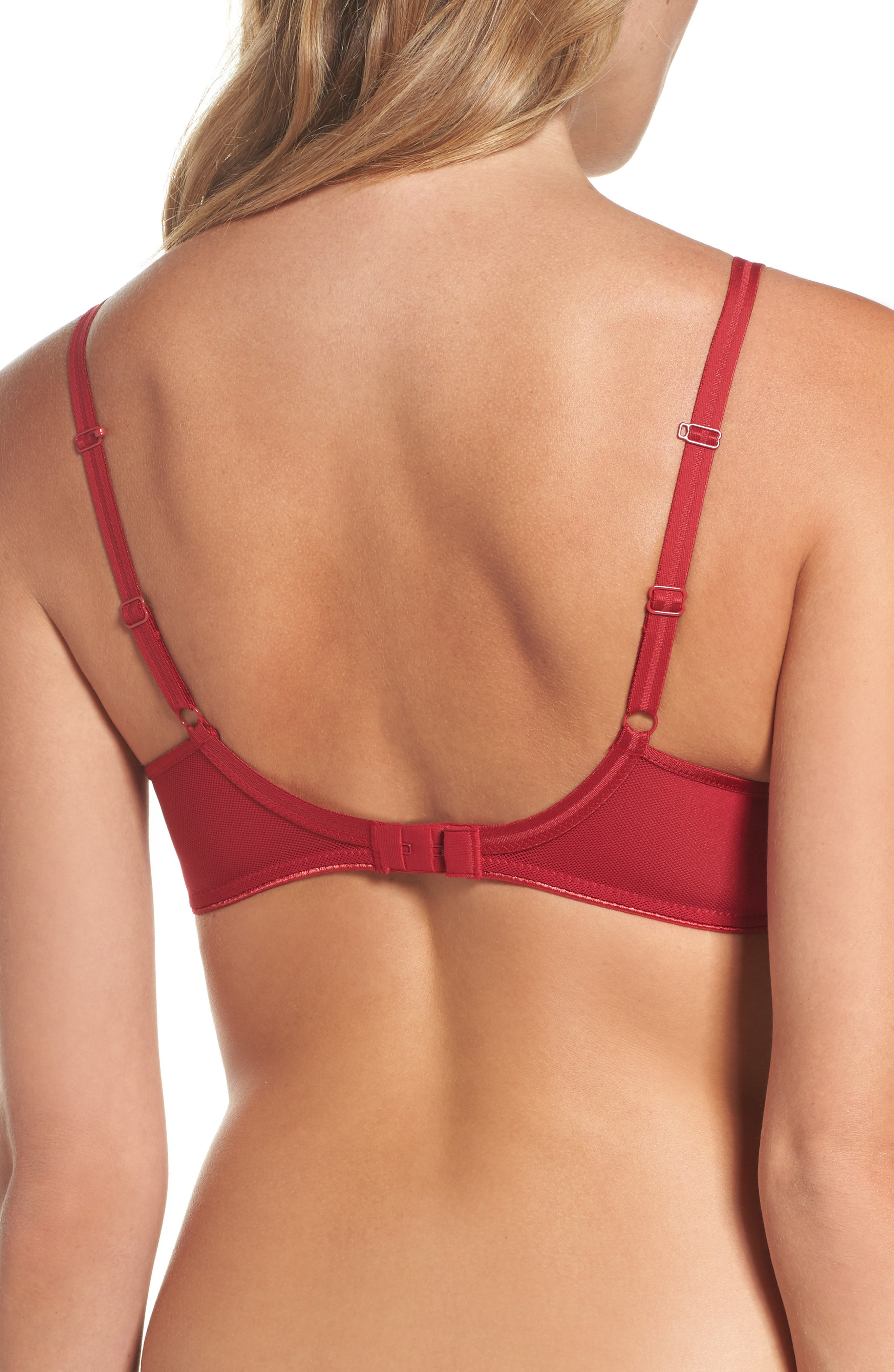 Aeria Underwire Spacer Bra,                             Alternate thumbnail 2, color,                             Candy Apple