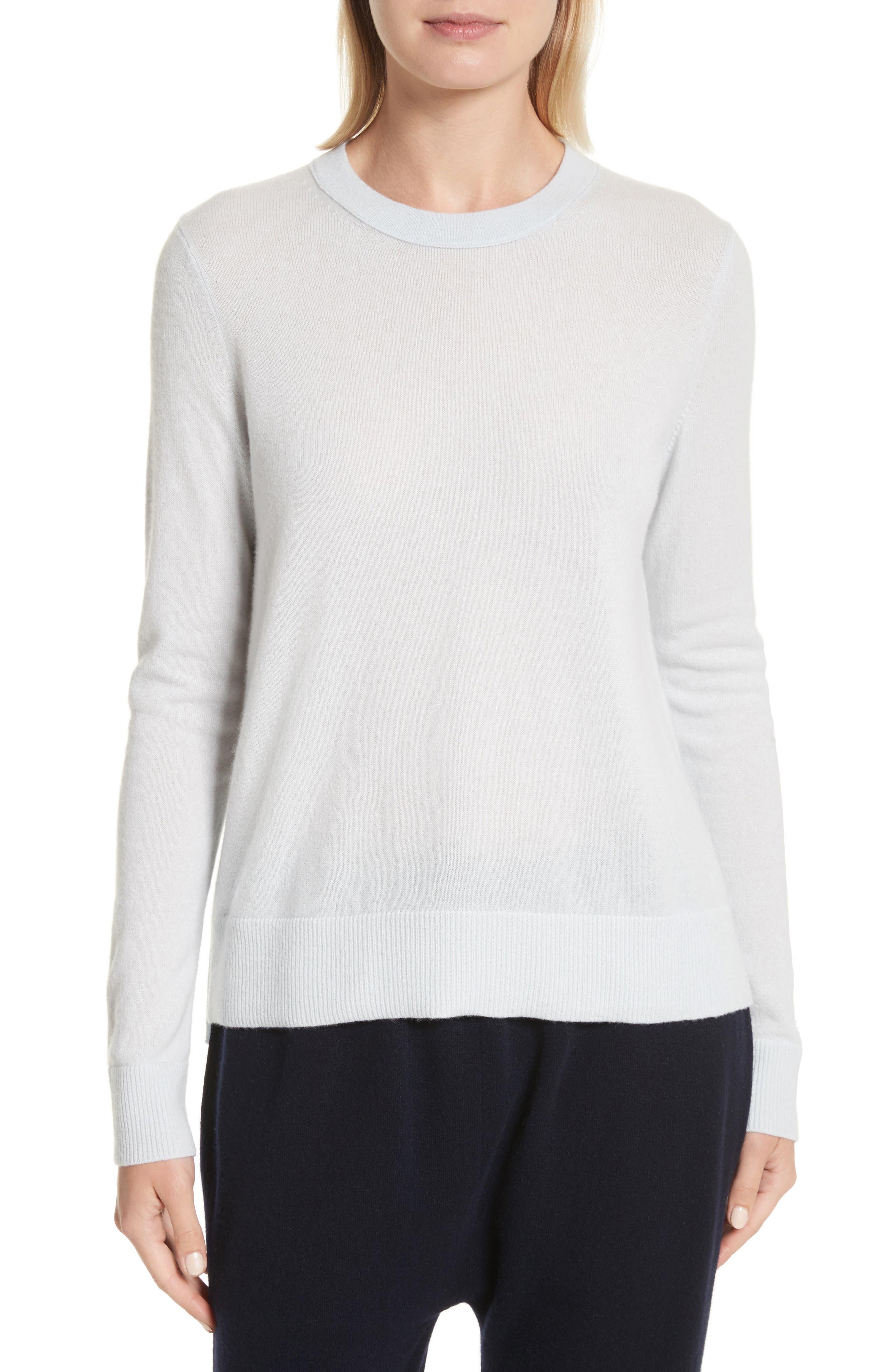 Cashmere Sweater,                         Main,                         color, Ice