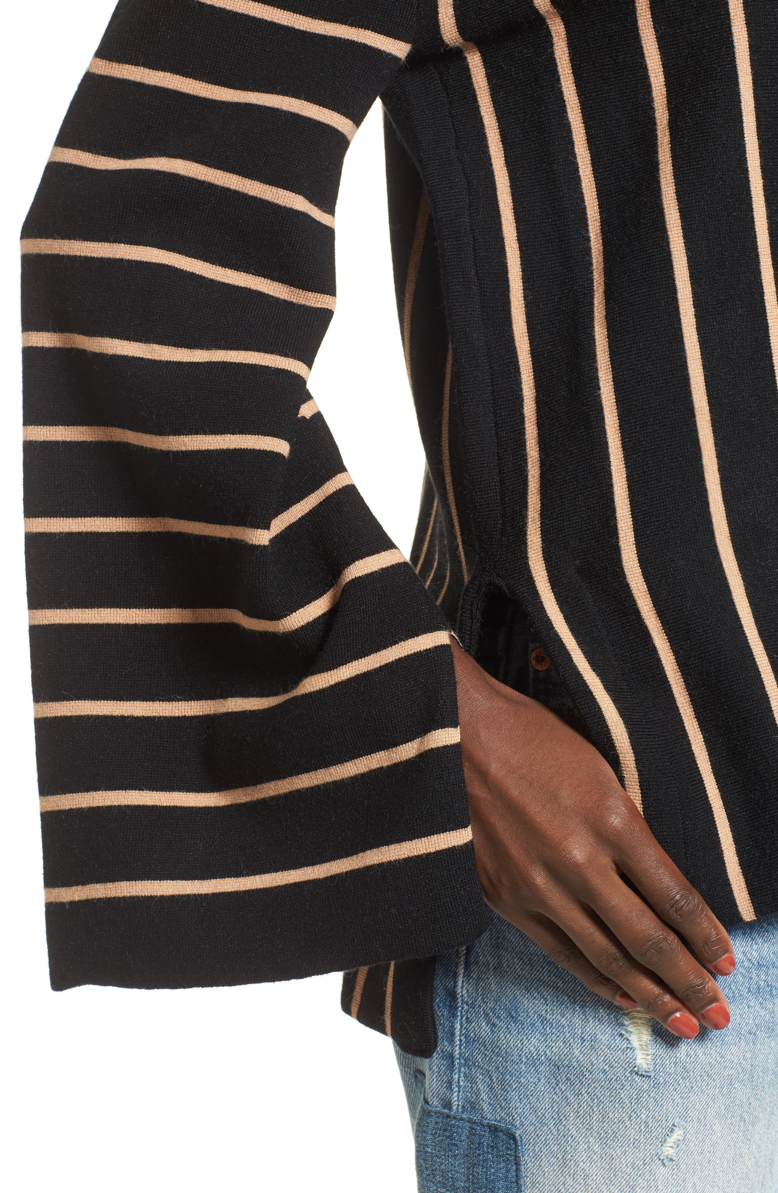 Alternate Image 5  - MOON RIVER Split Cuff Sweater