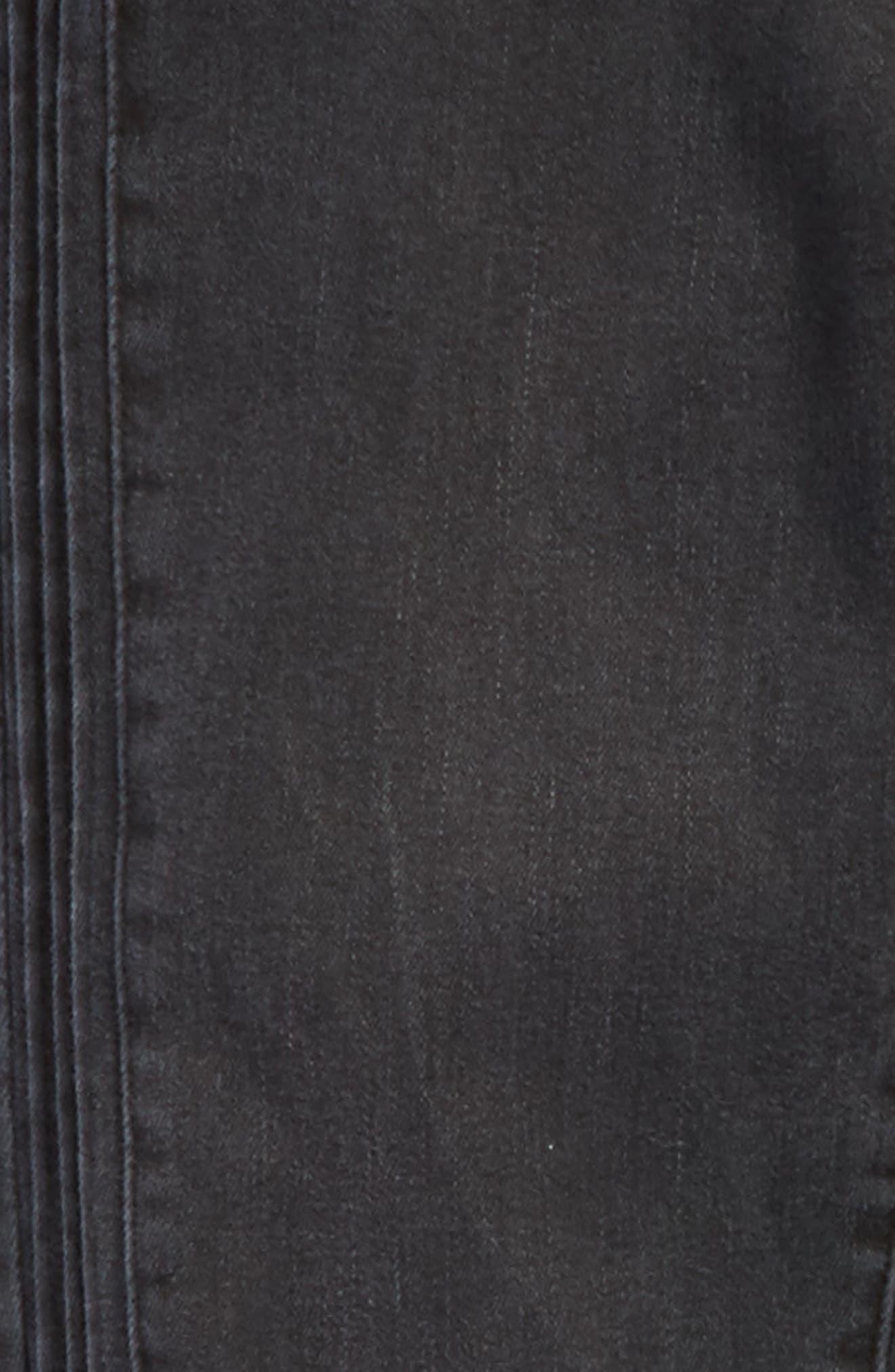 Tuxedo Step Hem Skinny Jeans,                             Alternate thumbnail 3, color,                             Dark Grey