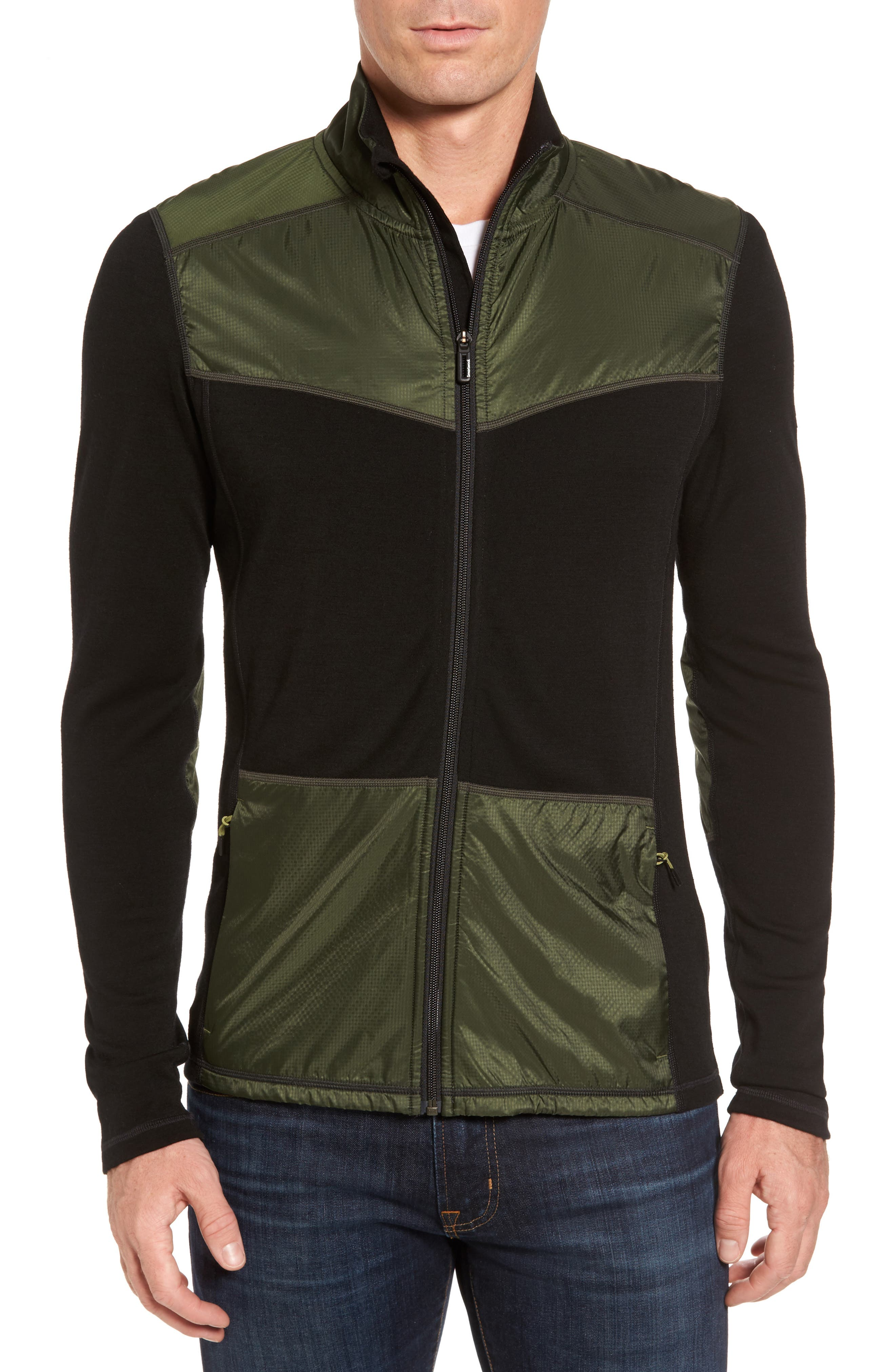 250 Sport Merino Wool Zip Jacket,                             Main thumbnail 1, color,                             Olive