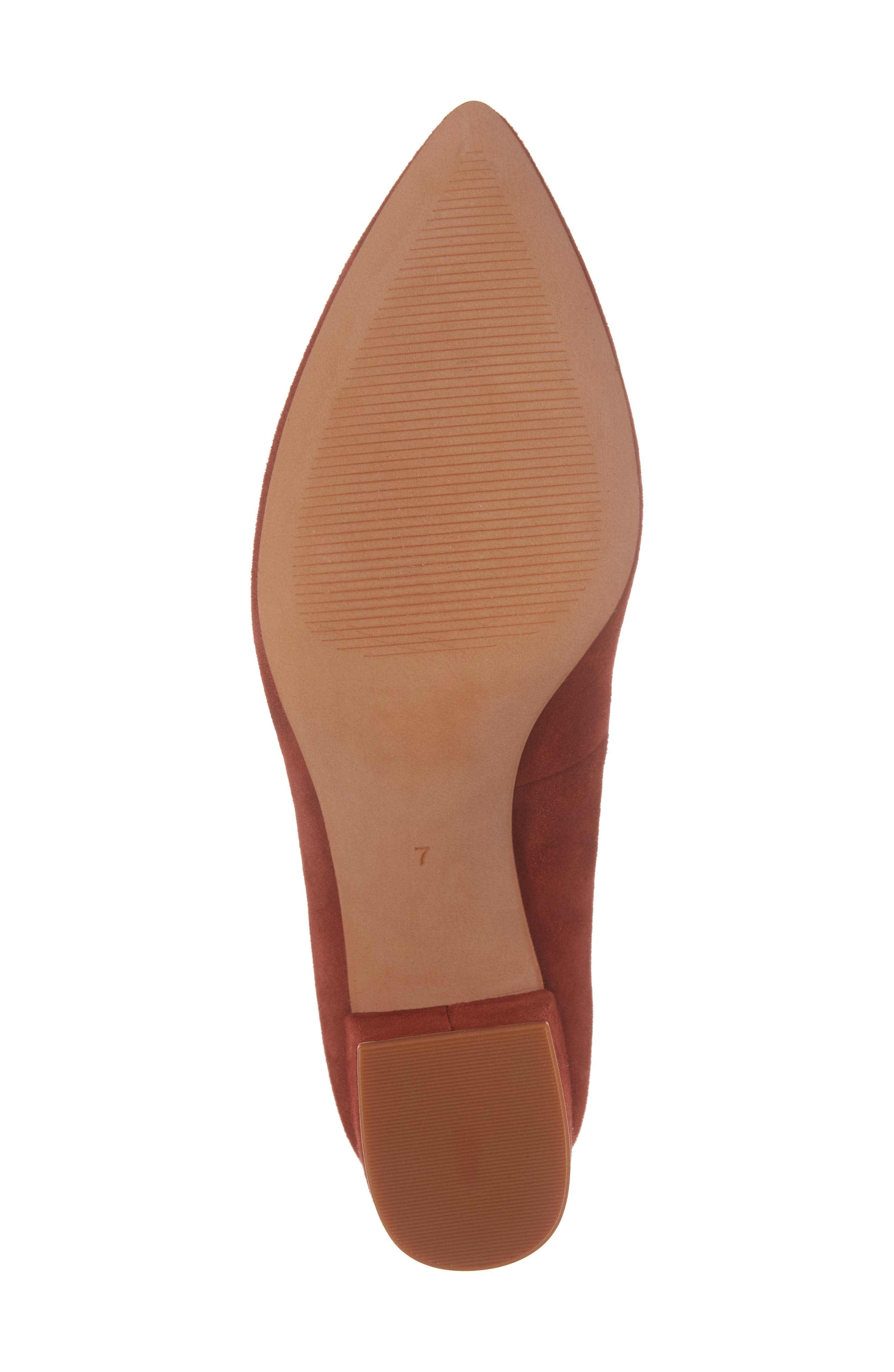 Rivka Pointy Toe Pump,                             Alternate thumbnail 6, color,                             Vintage Redwood Suede