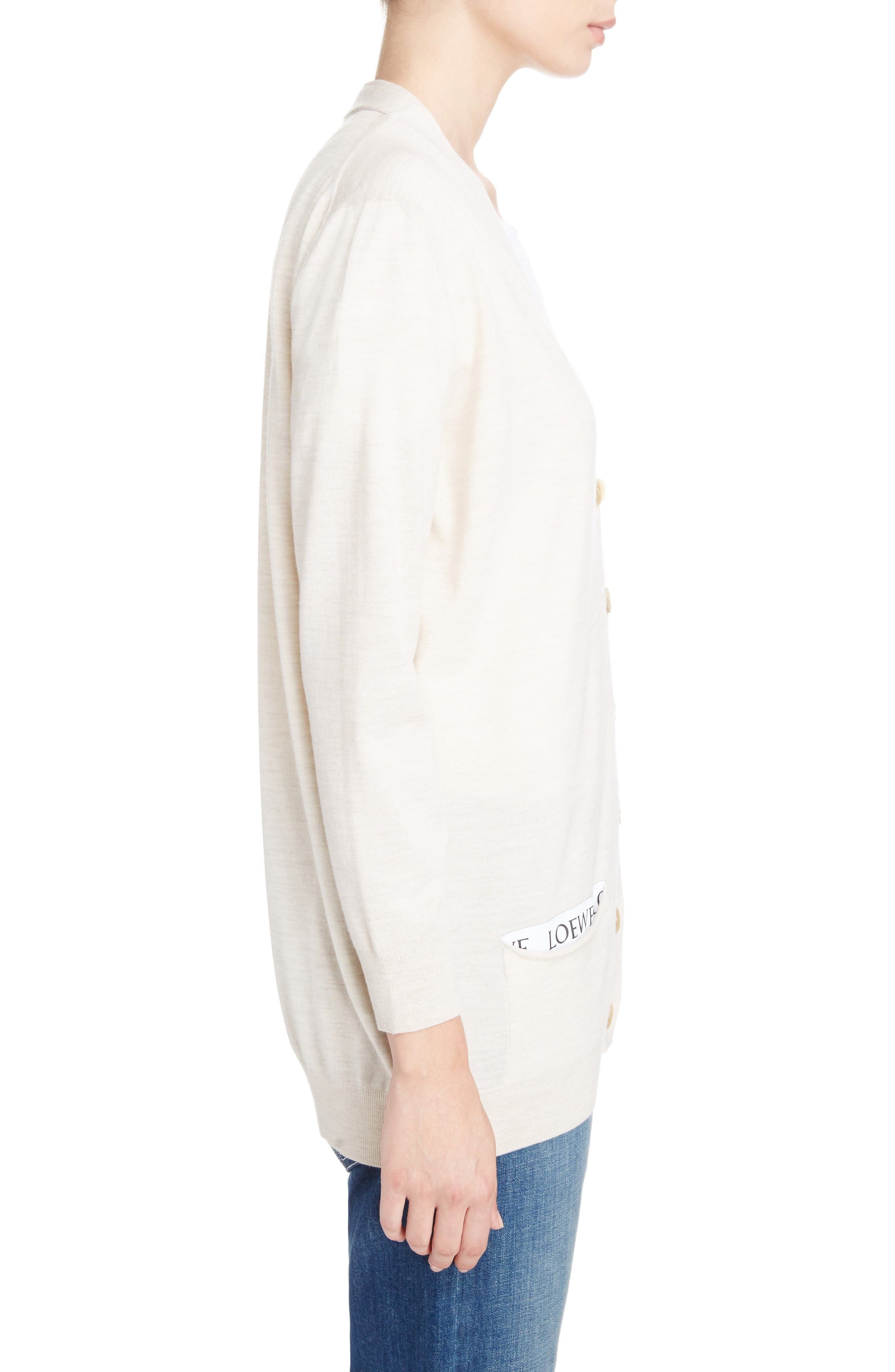 Alternate Image 4  - Loewe Logo Wool Blend Cardigan