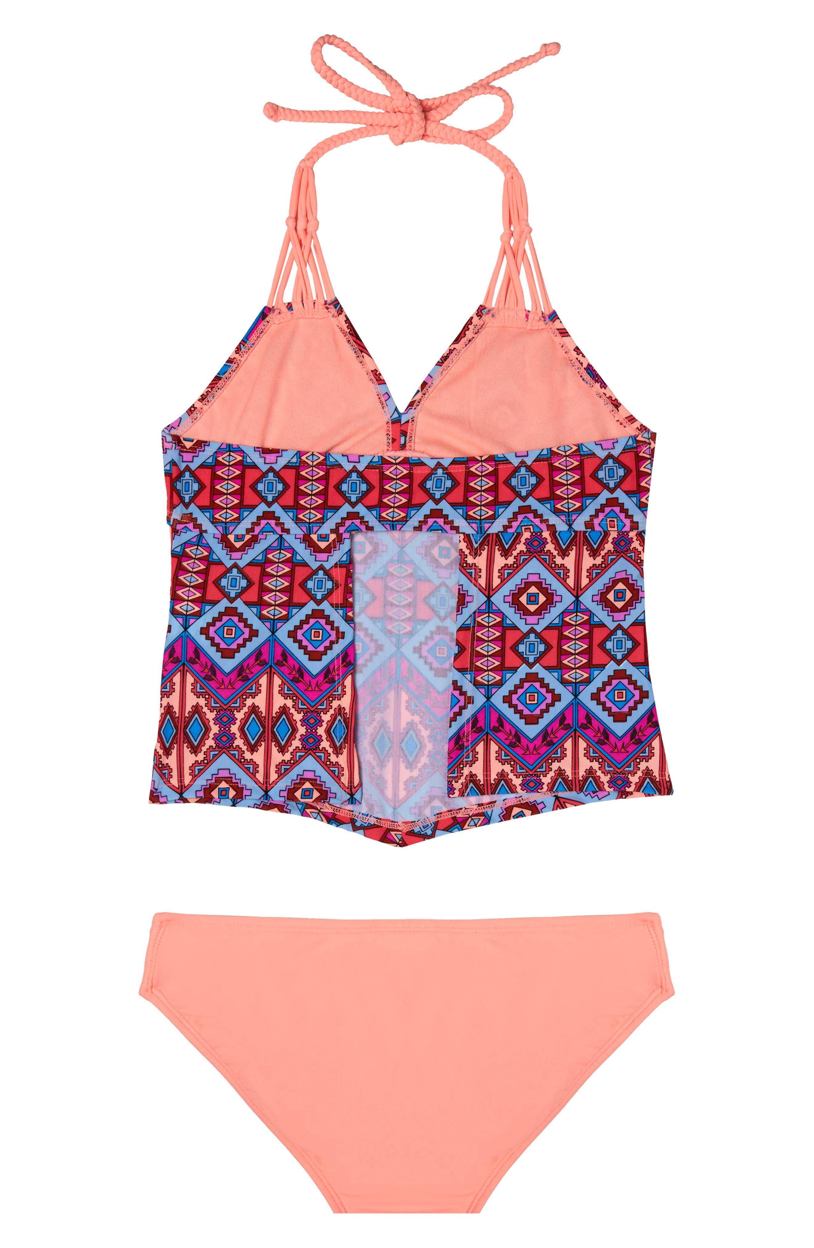 Brave Spirit Two-Piece Swimsuit,                             Alternate thumbnail 2, color,                             Coral