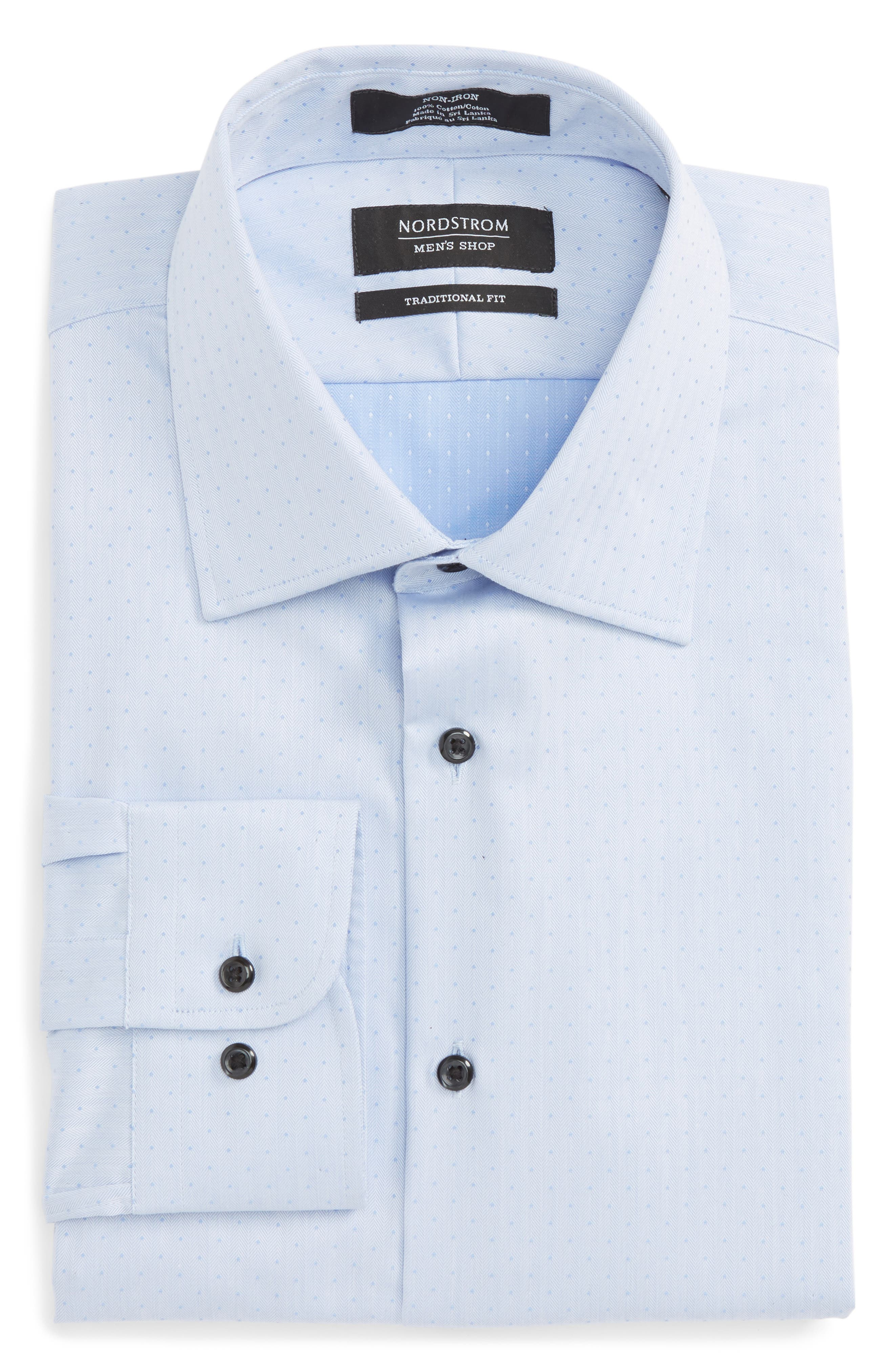 Main Image - Nordstrom Men's Shop Traditional Fit Non-Iron Dress Shirt