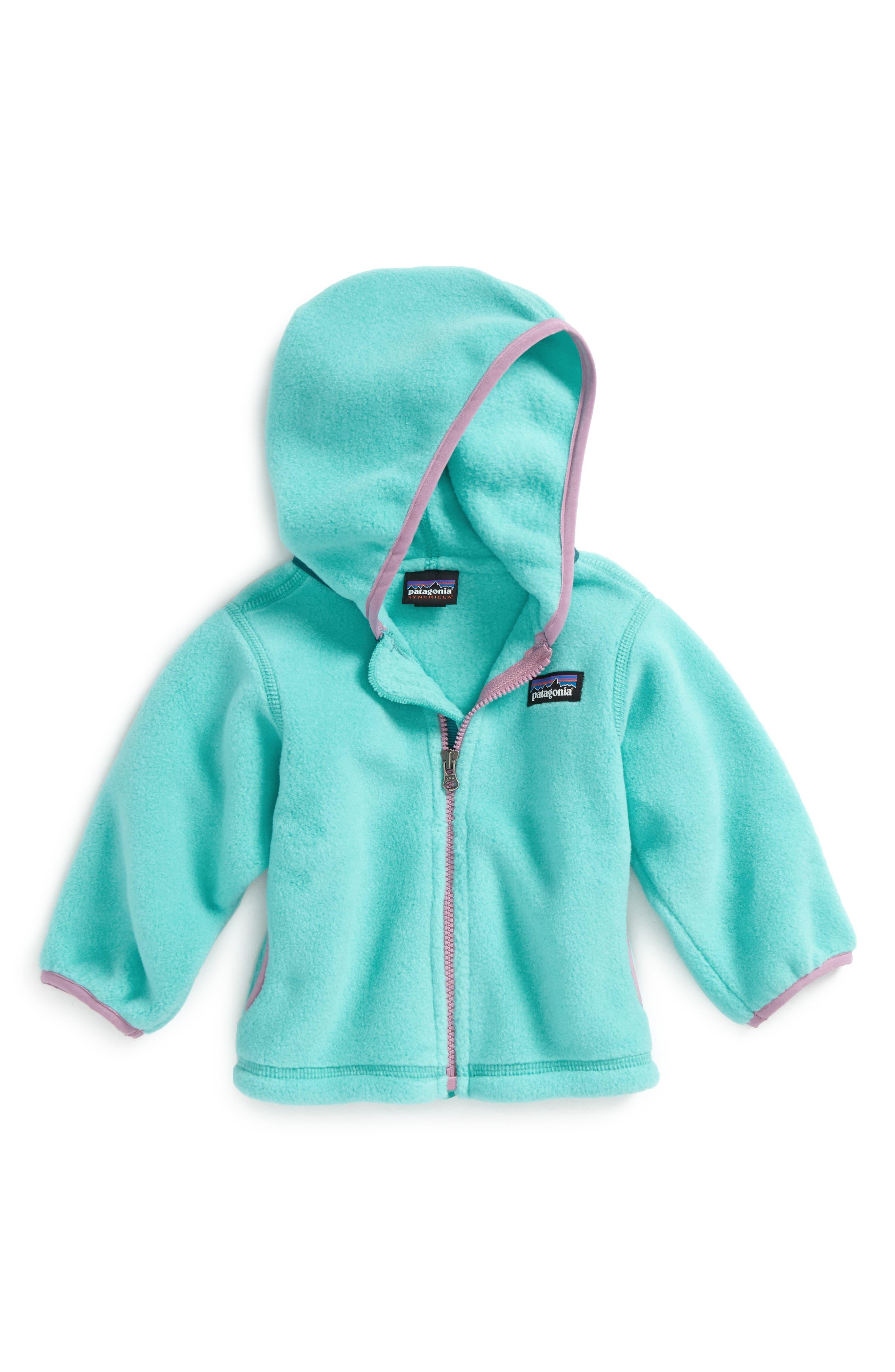 Alternate Image 1 Selected - Patagonia Synchilla® Fleece Cardigan (Baby Girls)