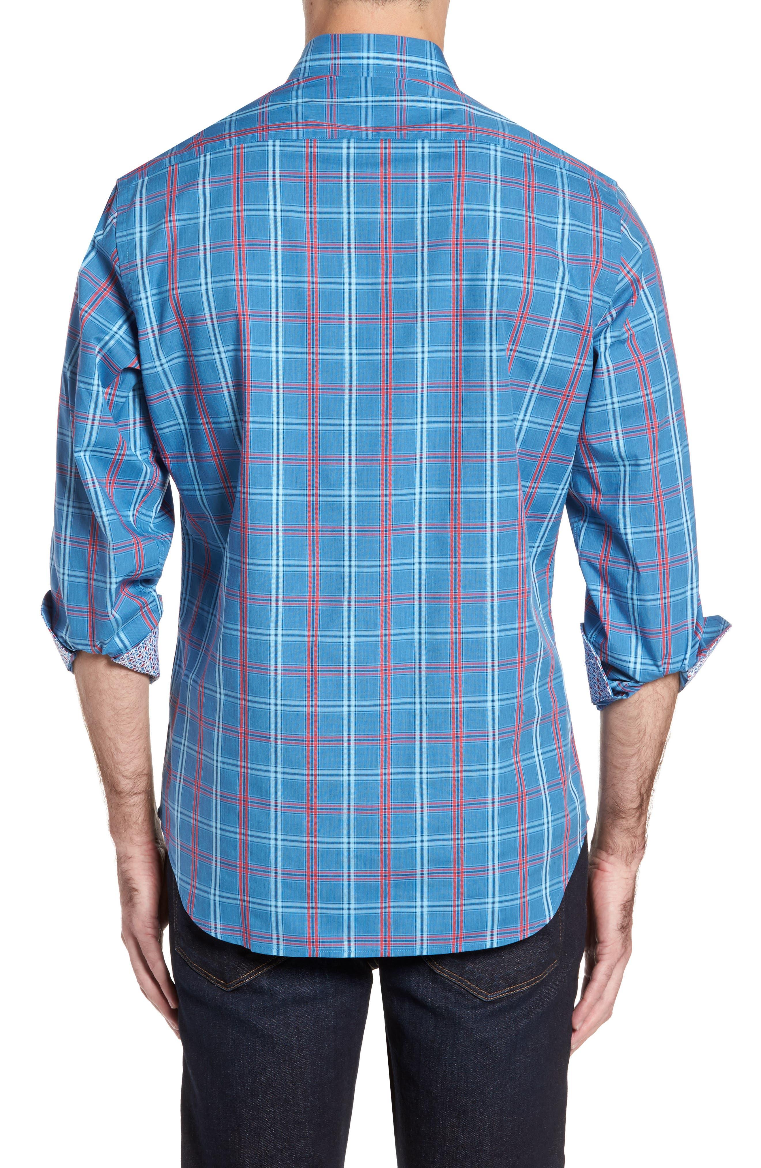 Ashland Windowpane Check Sport Shirt,                             Alternate thumbnail 2, color,                             Blue