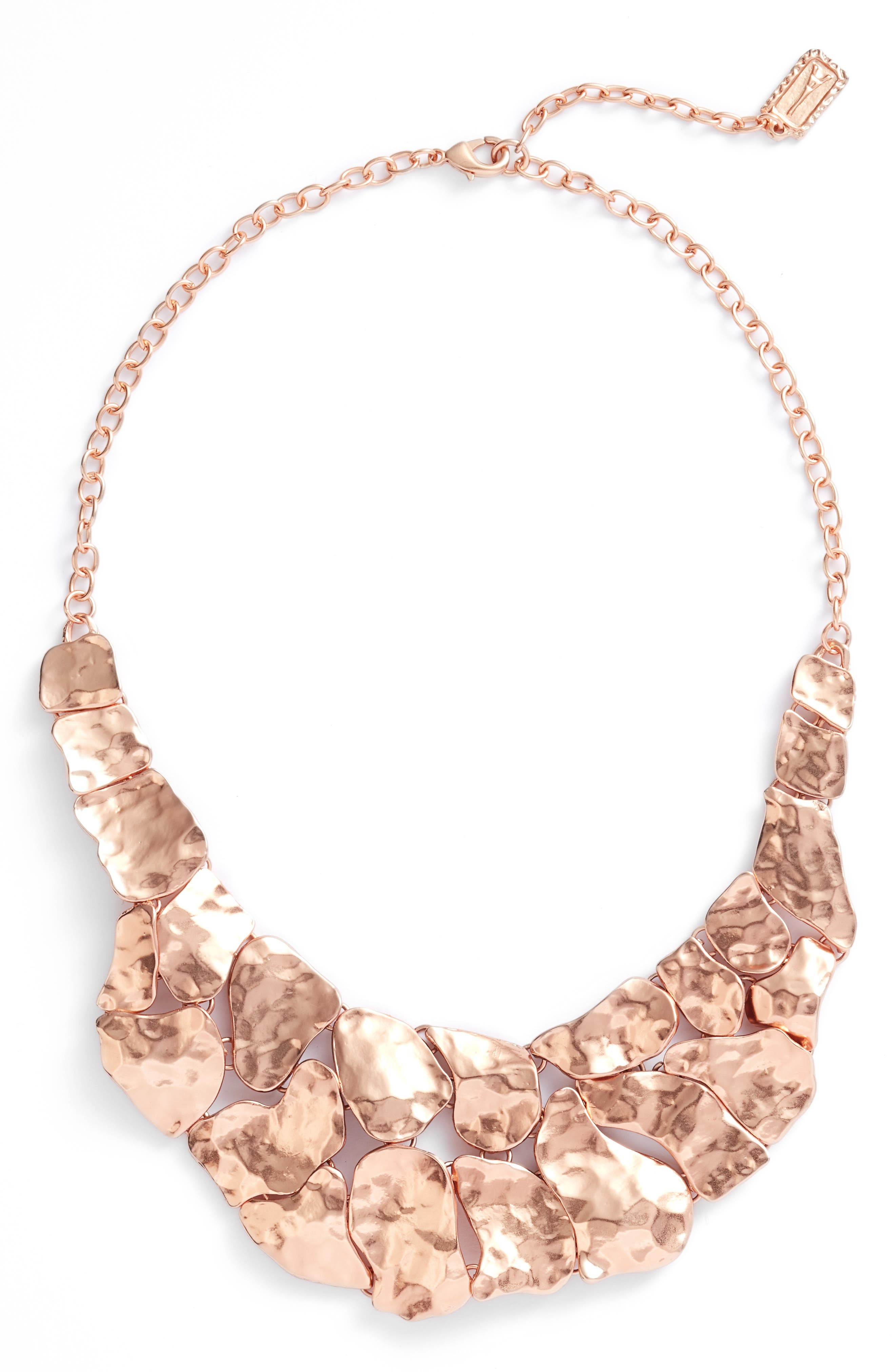 Alice Statement Necklace,                         Main,                         color, Rose Gold