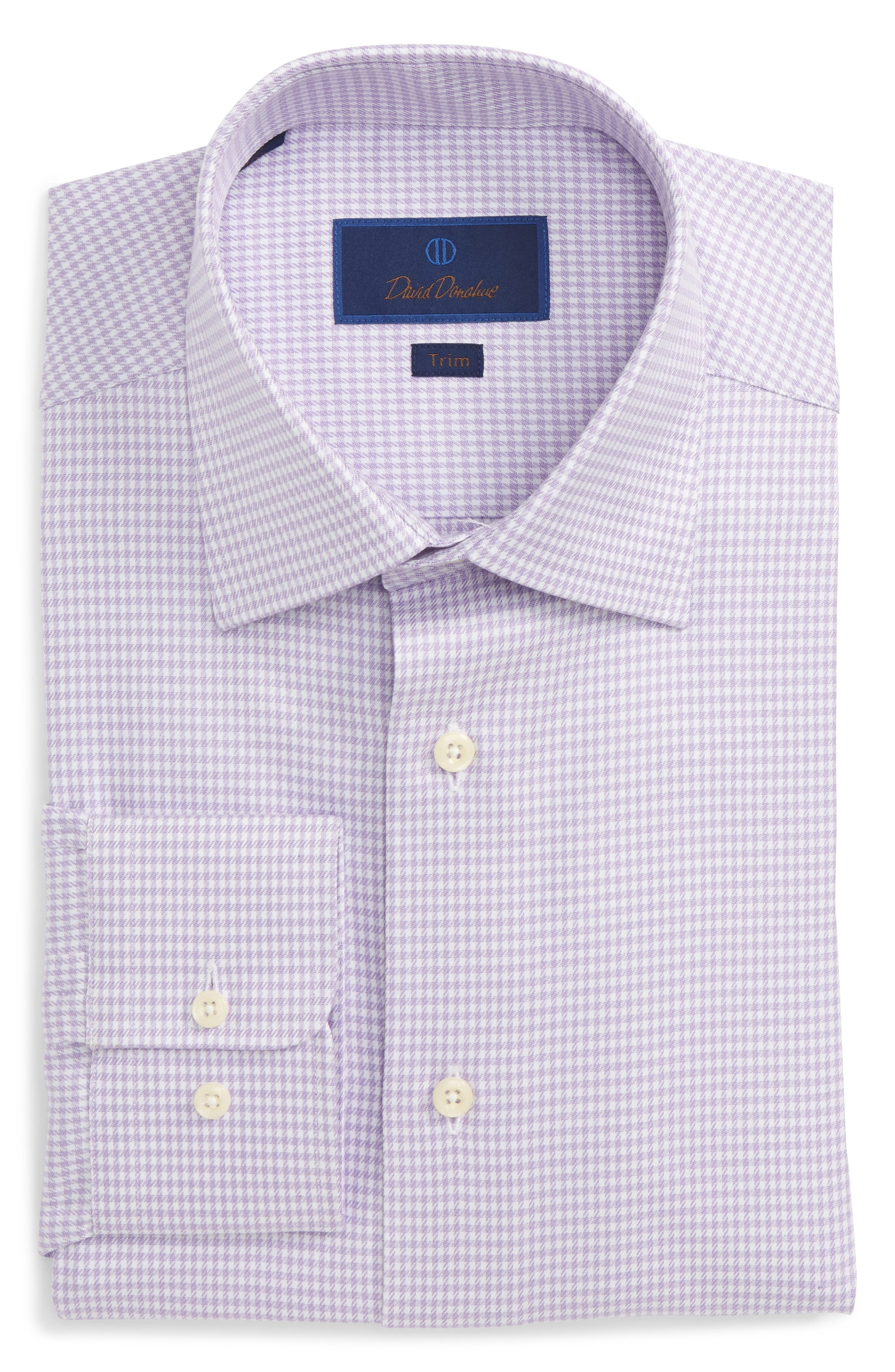 Alternate Image 1 Selected - David Donahue Trim Fit Houndstooth Dress Shirt