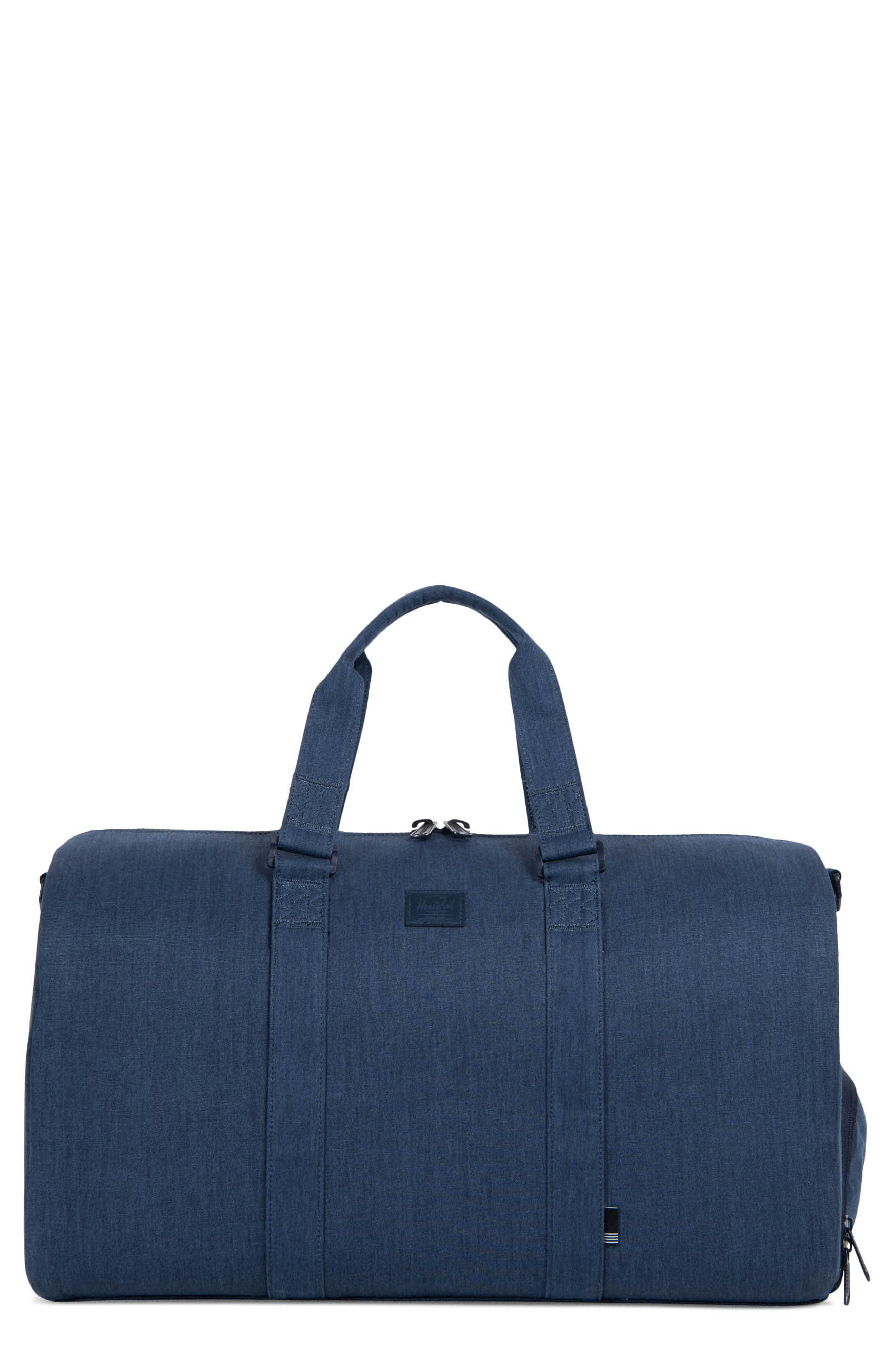 Novel Cotton Canvas Duffel Bag,                         Main,                         color, Peacoat