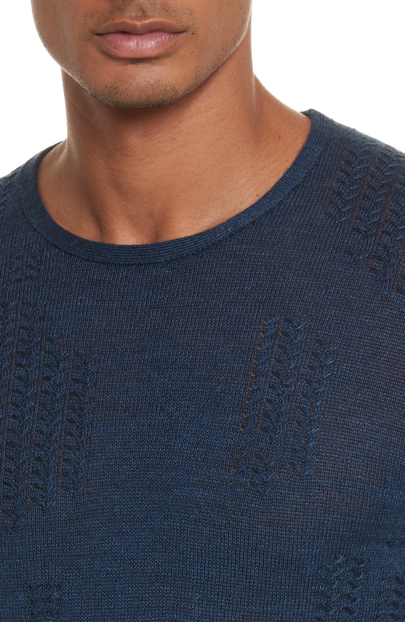Alternate Image 4  - John Varvatos Collection Crewneck Sweater