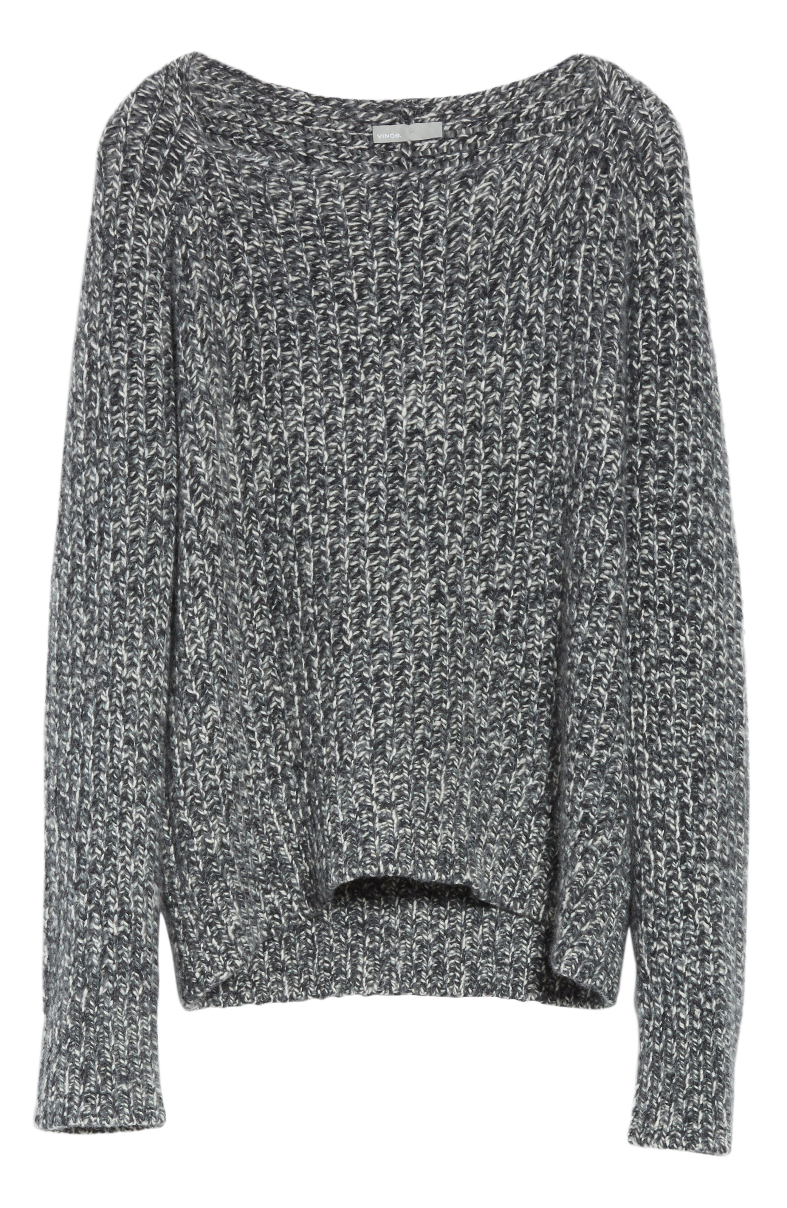 Marled Wool Blend Sweater,                             Alternate thumbnail 5, color,                             Grey