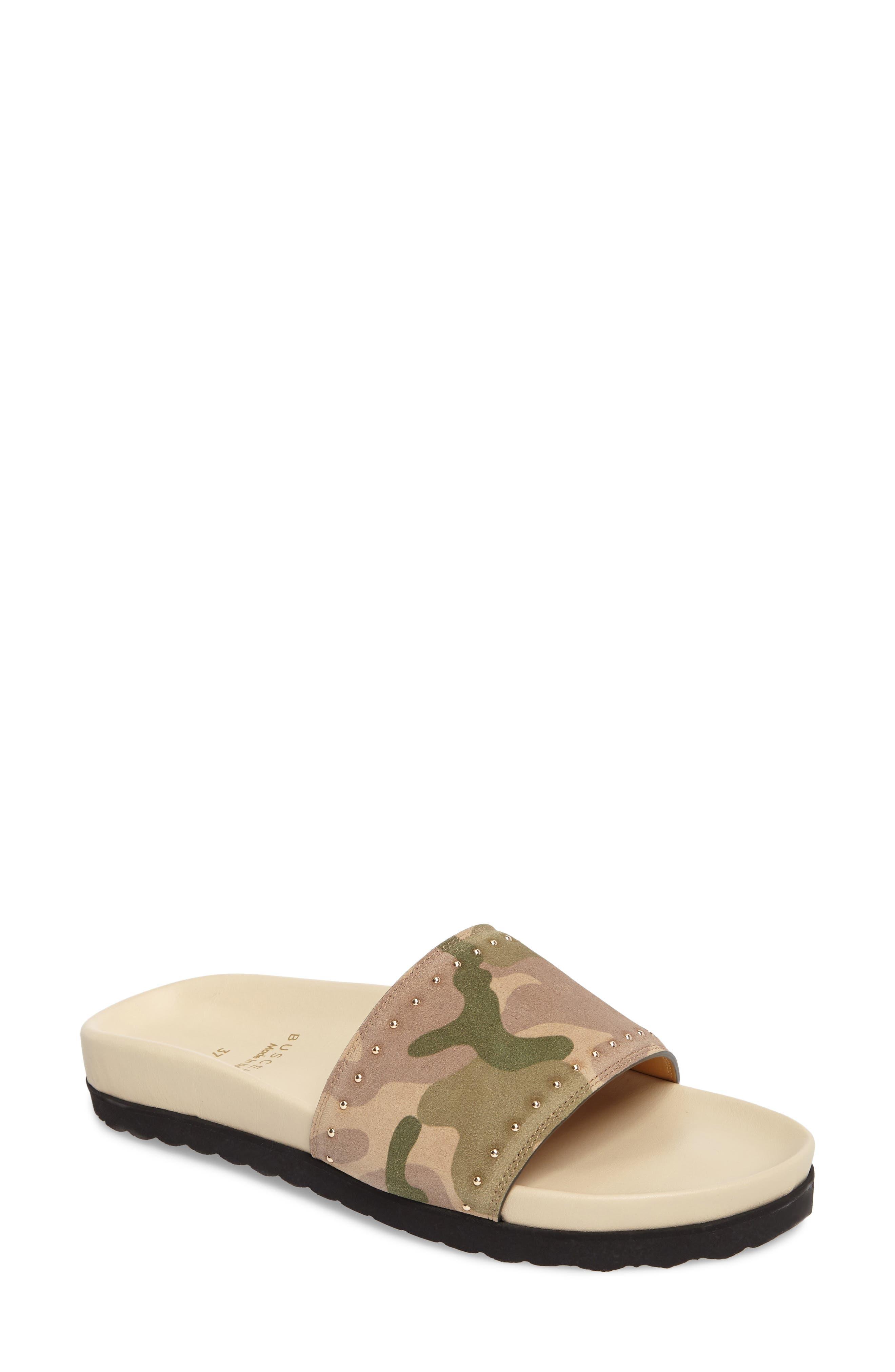 Buscemi Camo Slide Sandal (Women)
