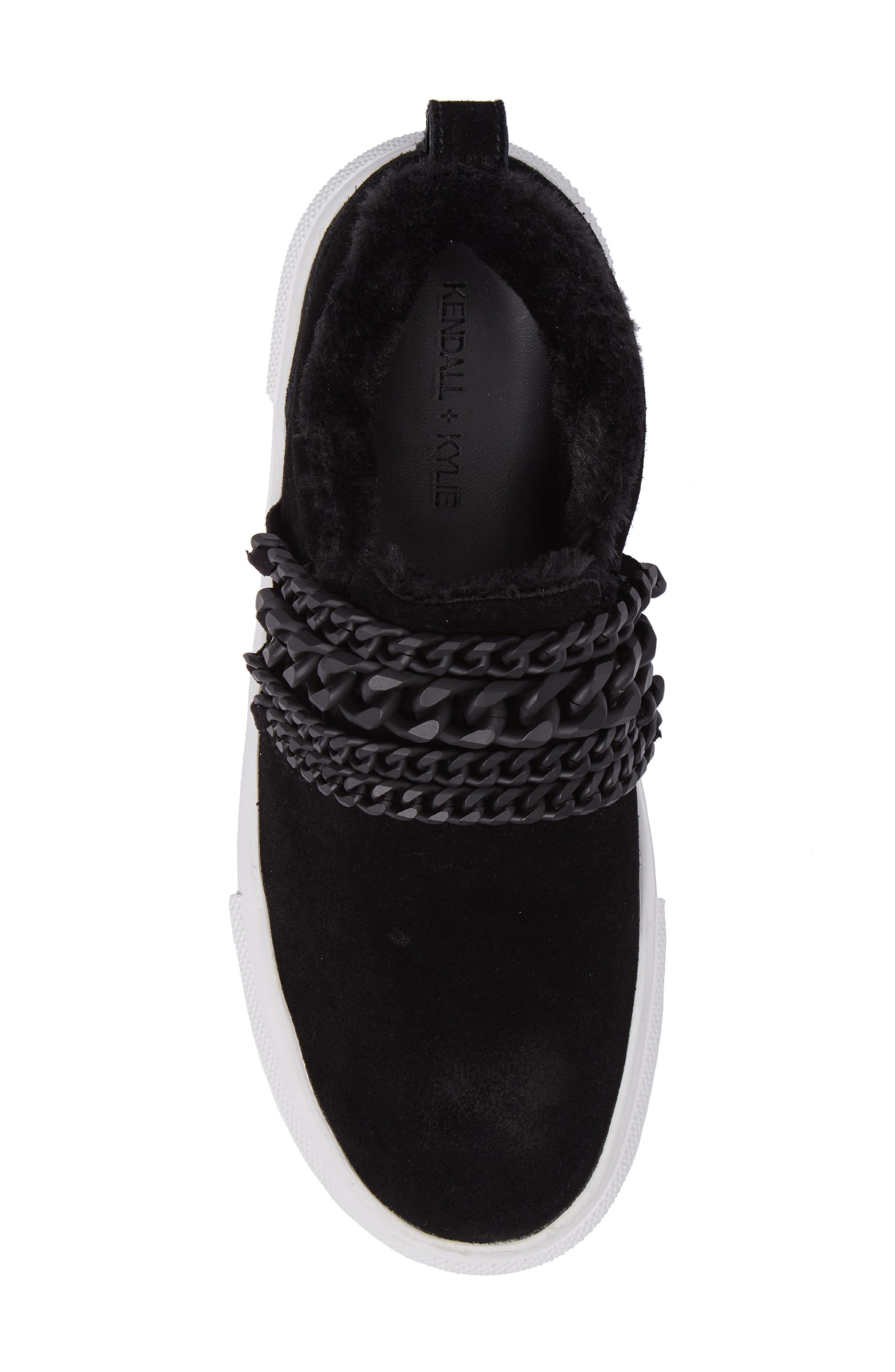 Tory Platform Sneaker,                             Alternate thumbnail 5, color,                             Black
