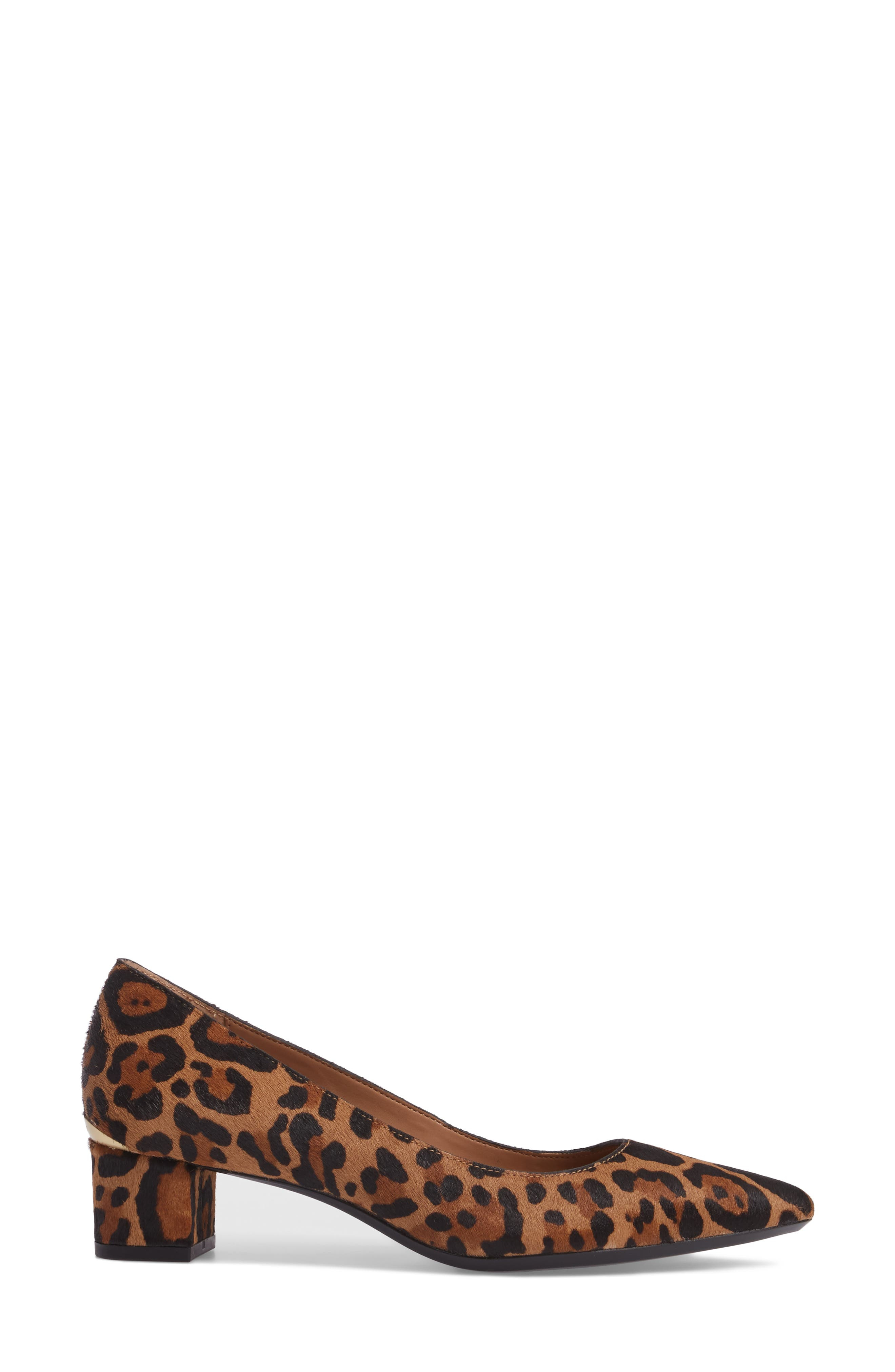 Genoveva Pump,                             Alternate thumbnail 3, color,                             Natural Leopard Hair Calf