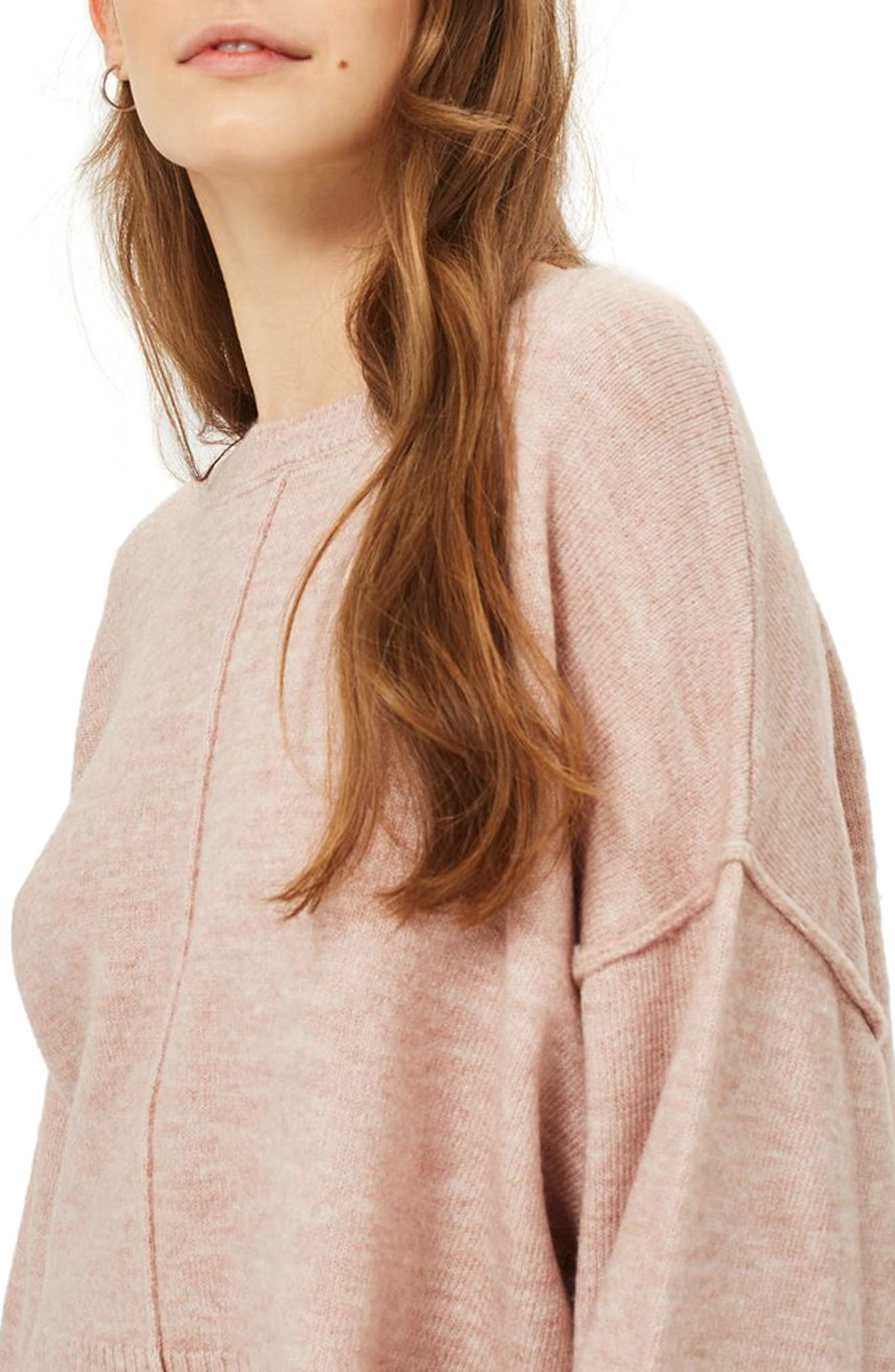 Alternate Image 3  - Topshop Wide Sleeve Crop Sweater