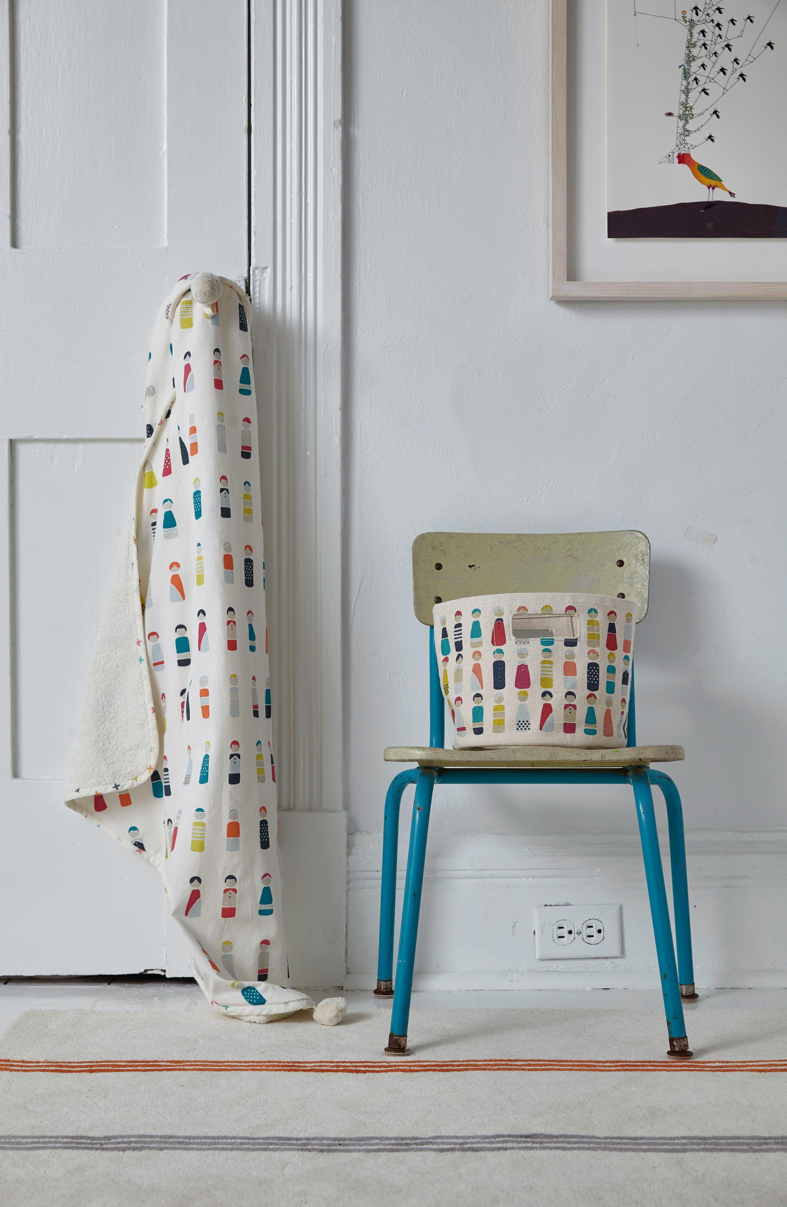 Little Peeps Print Hooded Towel,                             Alternate thumbnail 2, color,                             Multi