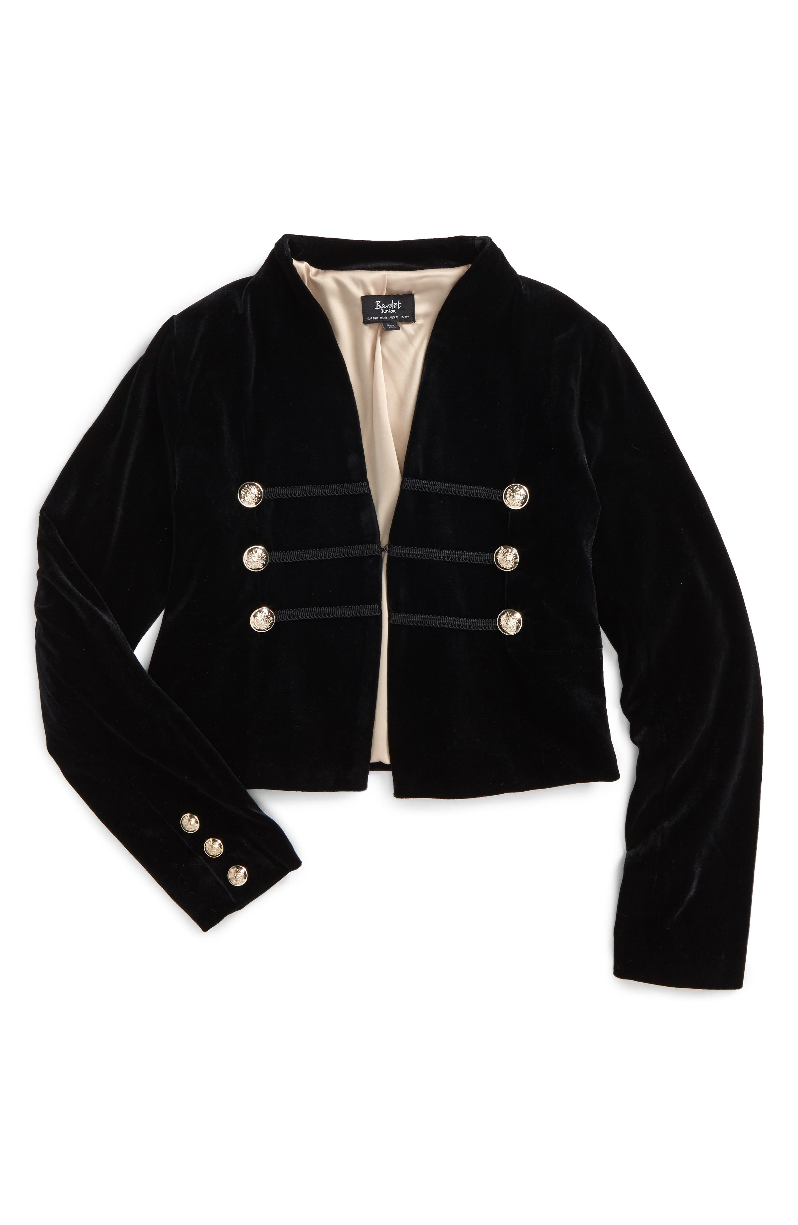 Military Jacket,                         Main,                         color, Black