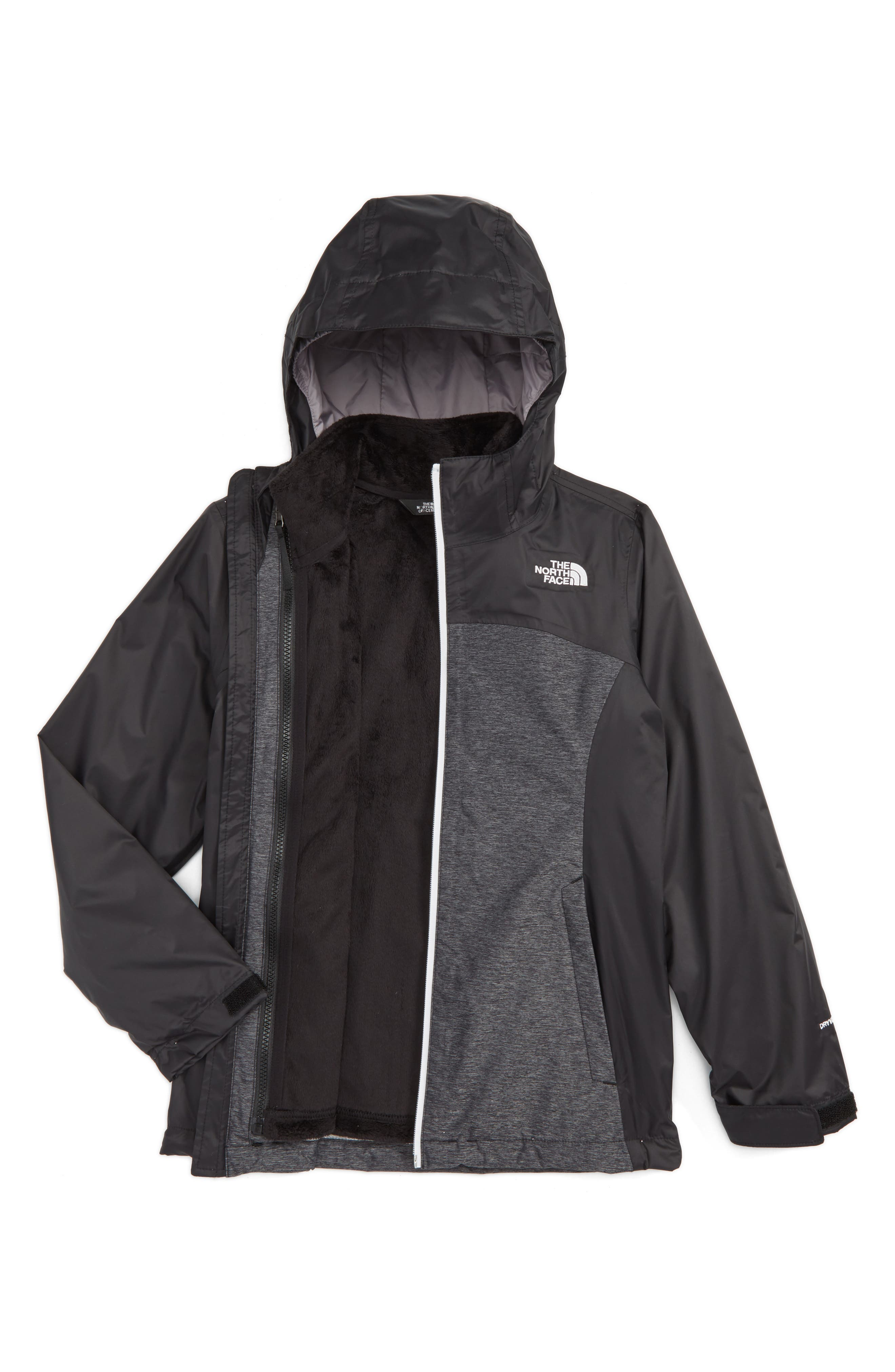 Osolita TriClimate<sup>®</sup> Waterproof 3-in-1 Jacket,                             Main thumbnail 1, color,                             Tnf Black