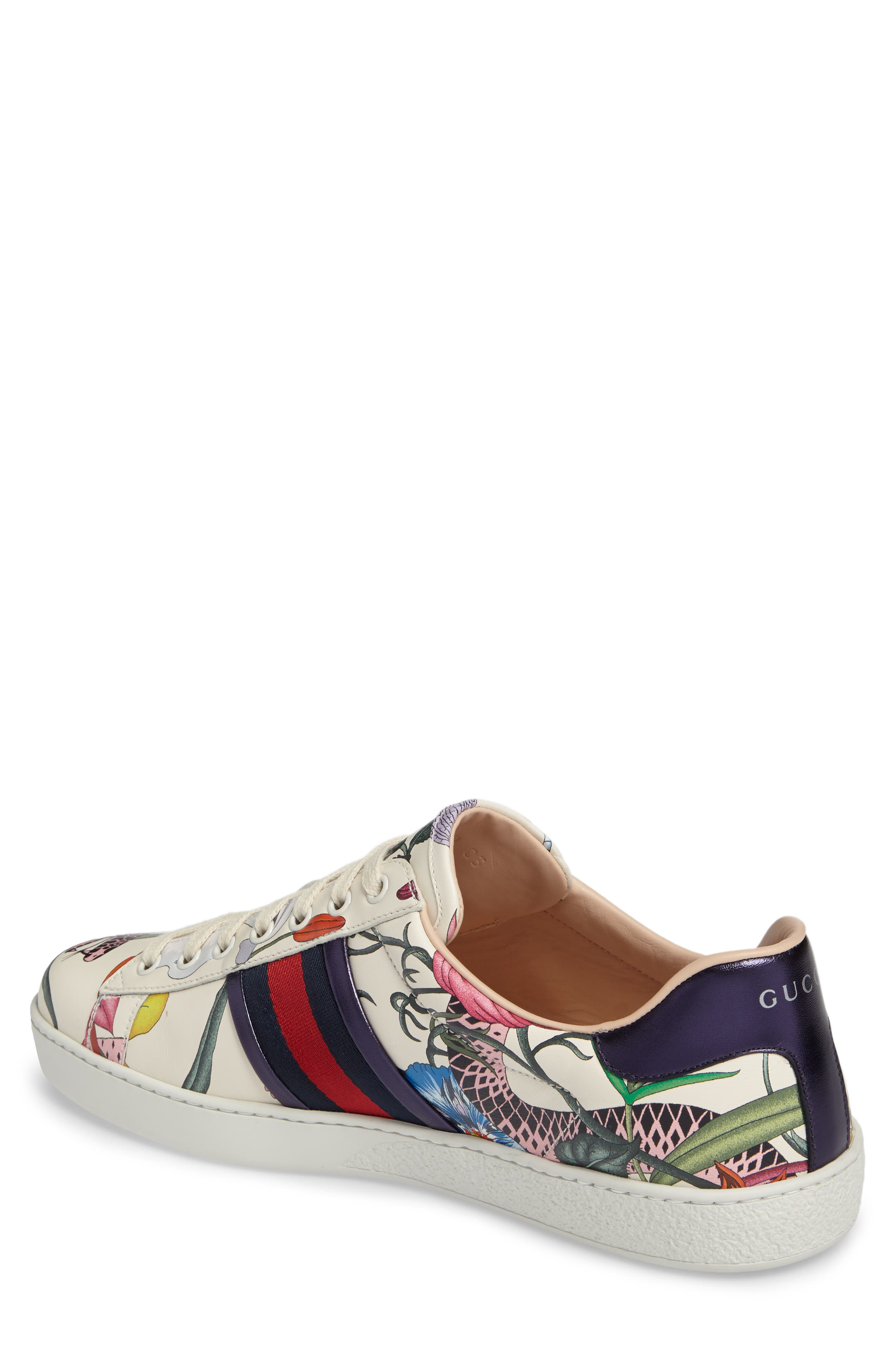 Alternate Image 2  - Gucci New Ace Floral Dino Sneaker (Men)