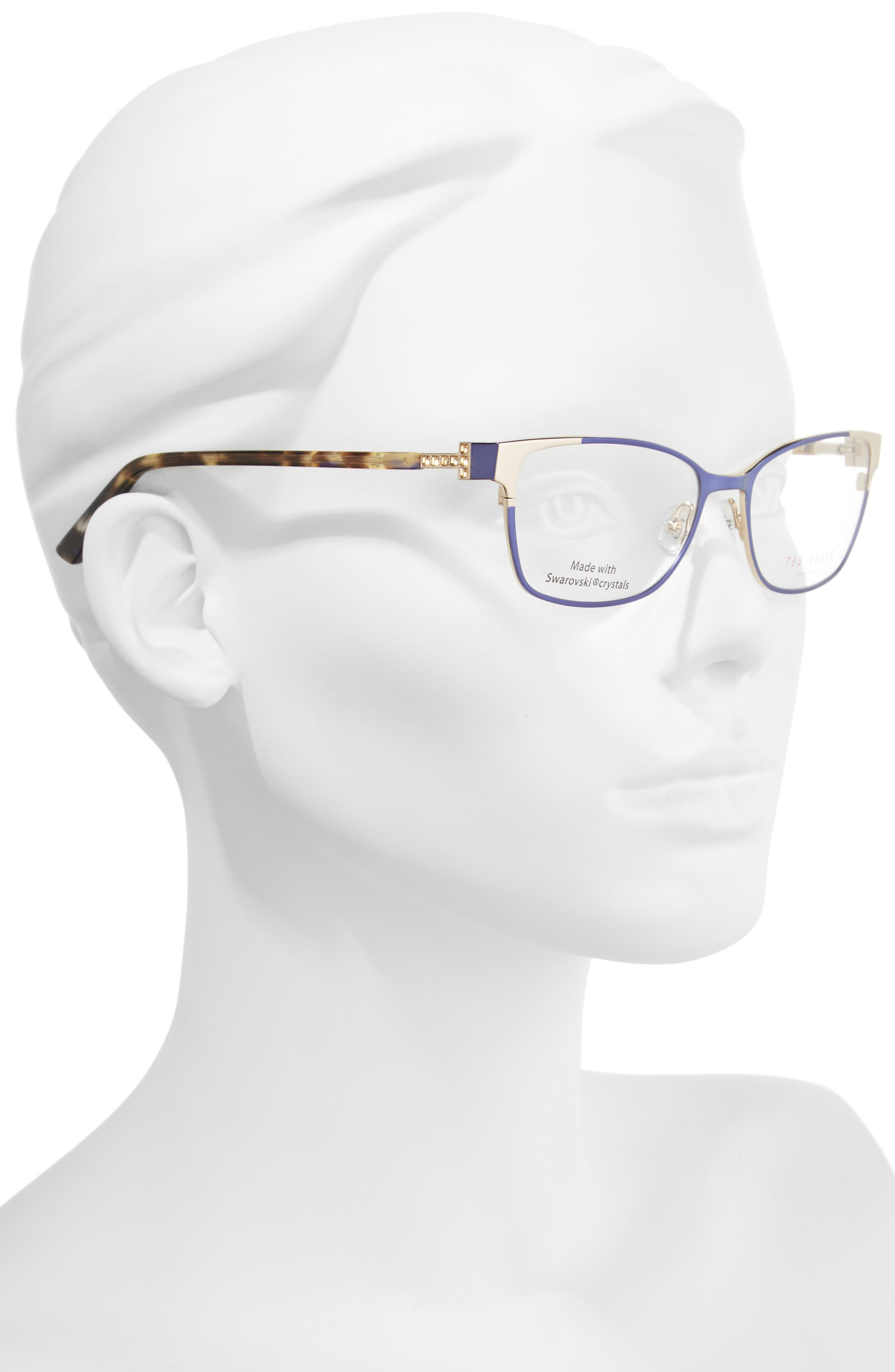 52mm Crystal Rectangular Optical Glasses,                             Alternate thumbnail 2, color,                             Blue